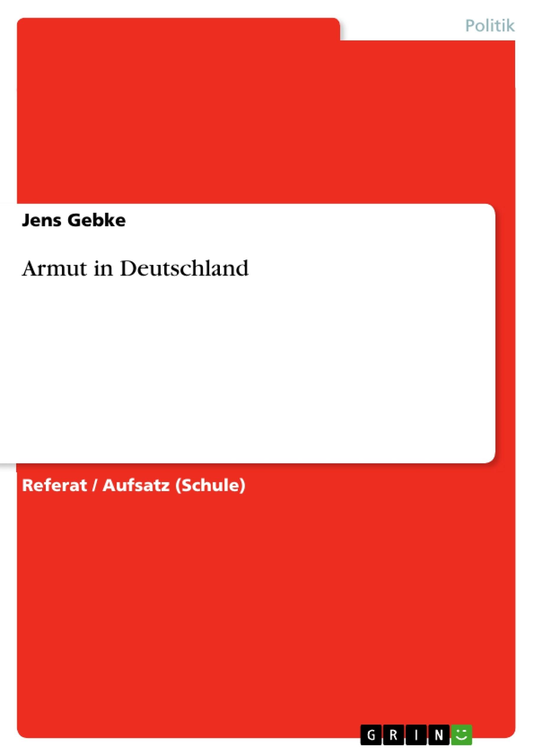 essay armut in deutschland