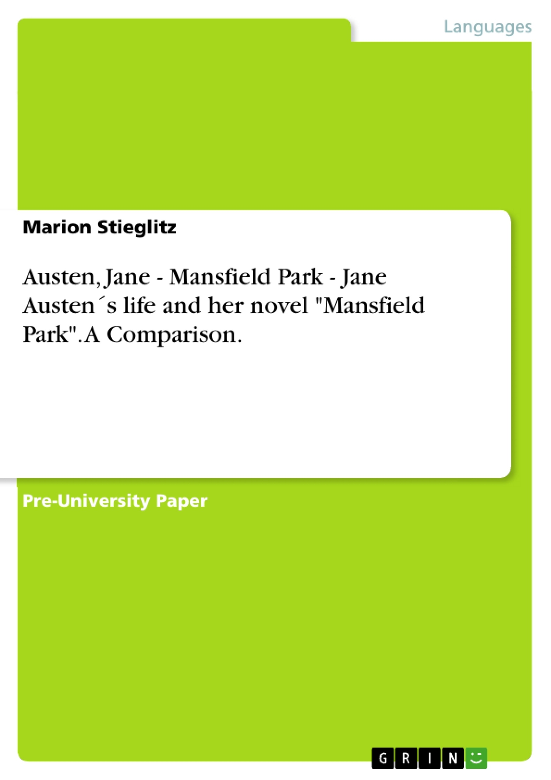 mansfeild park by jane austen essay Mansfield park mansfield park is considered to be a 'sober novel' it was published in three volumes by then austen had matured as a (1814) writer and was dealing.