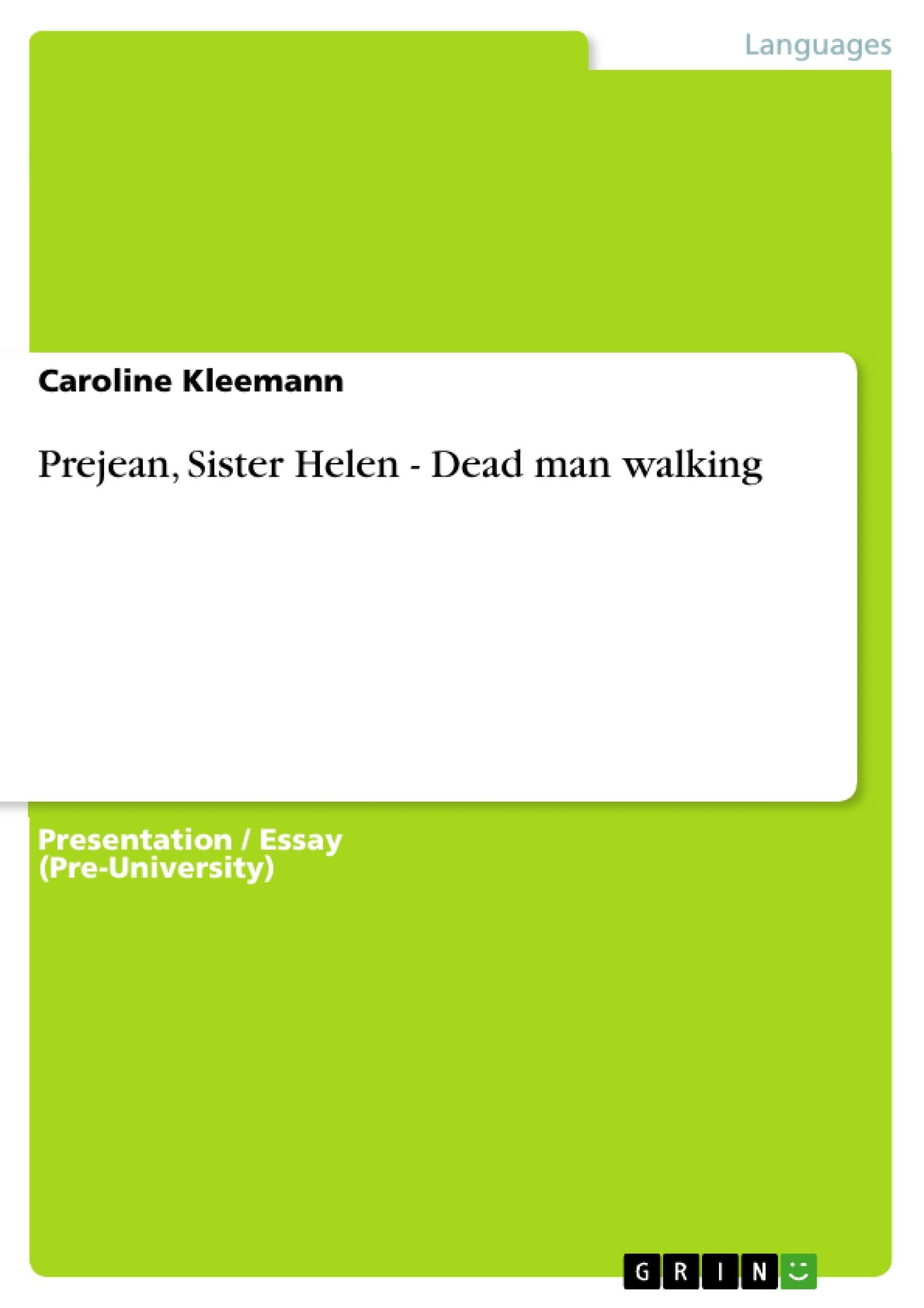 Dead man walking essay