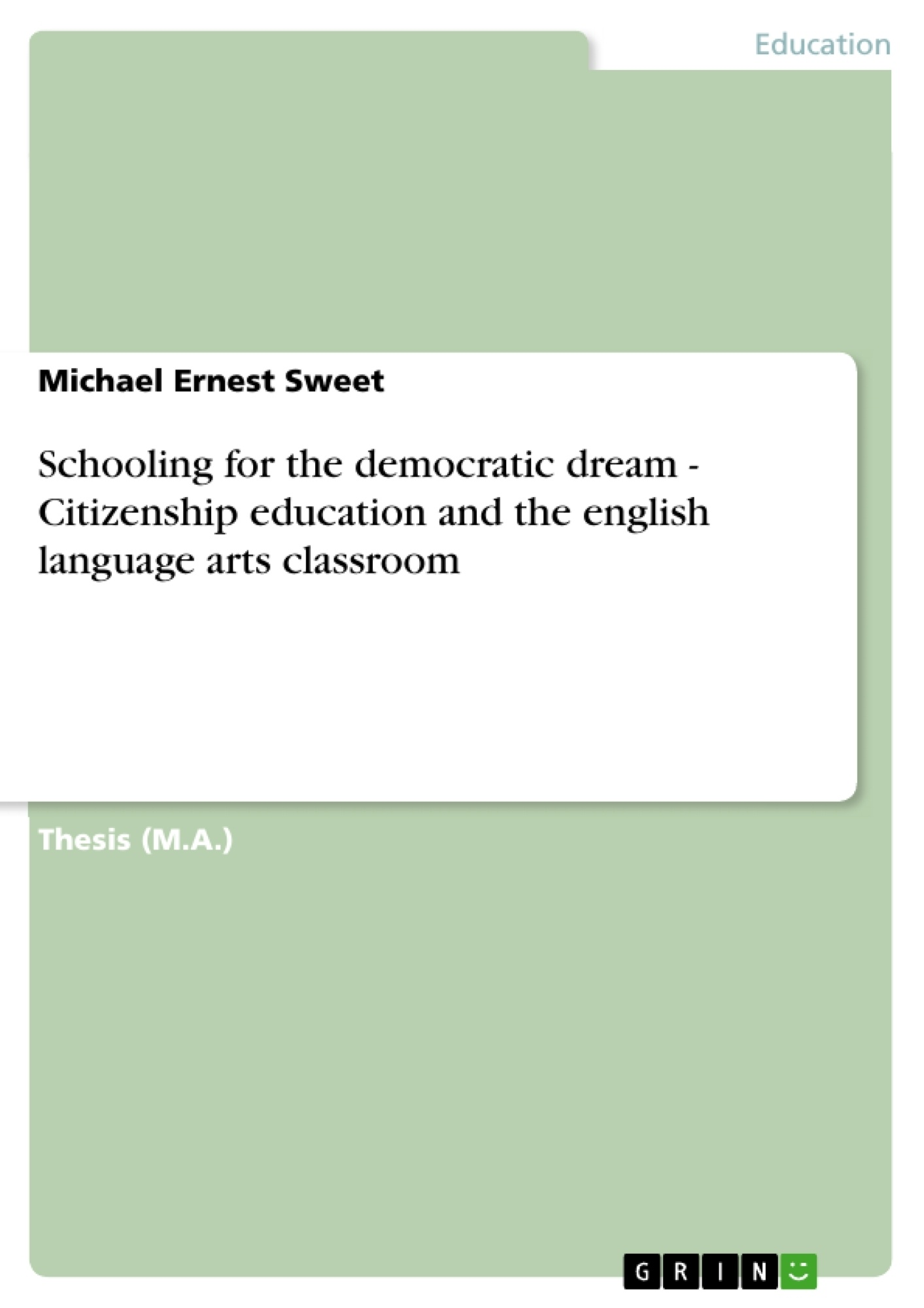 essays on citizenship education Moral education and character education:  in citizenship education  between the fields of moral education and character education further complicates attempts.