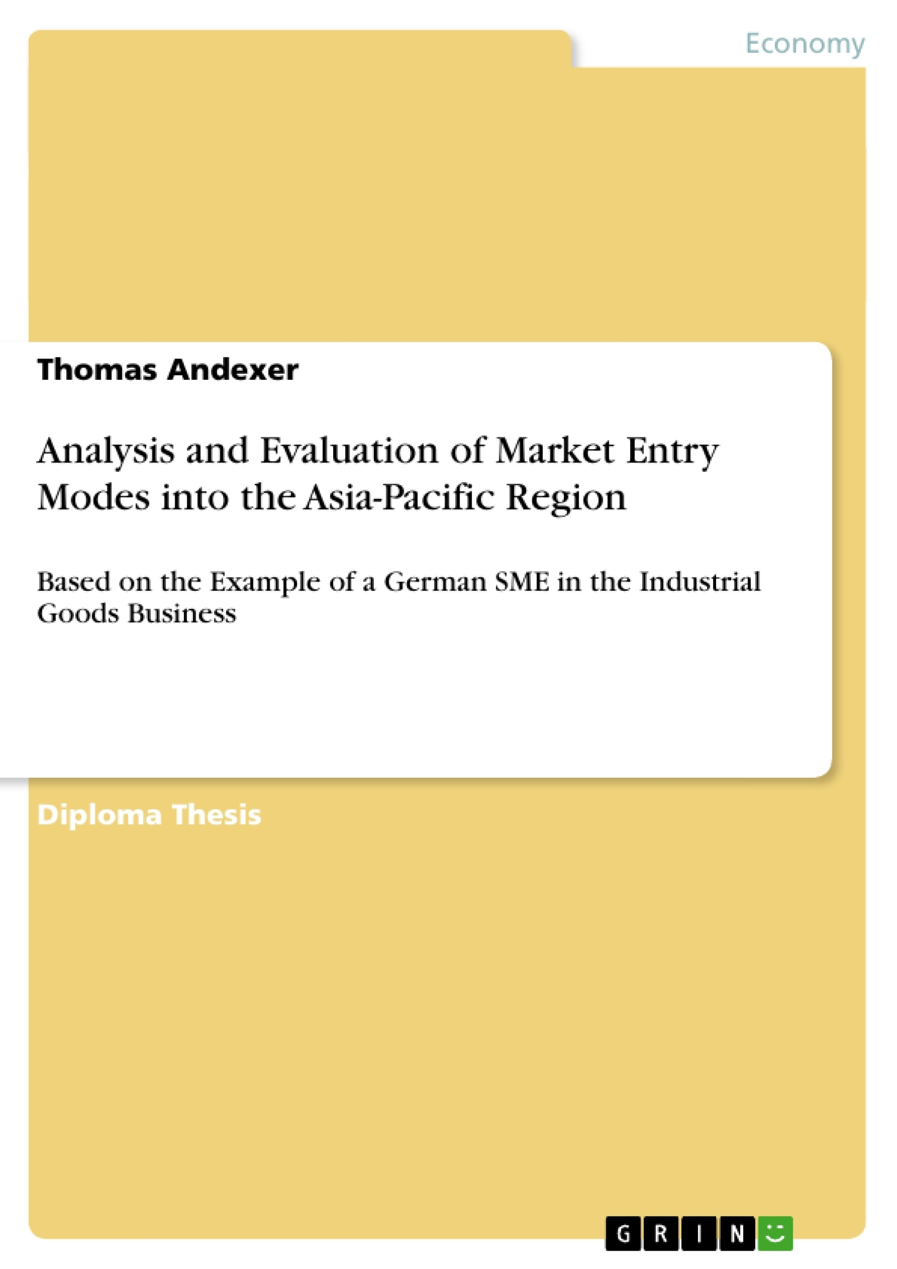 entry mode of asian pacific breweries essay Study of heineken acquired asia pacific breweries stage 1: this essay will be arguing that blackberry in asia (rim's) entry into the chinese market during.