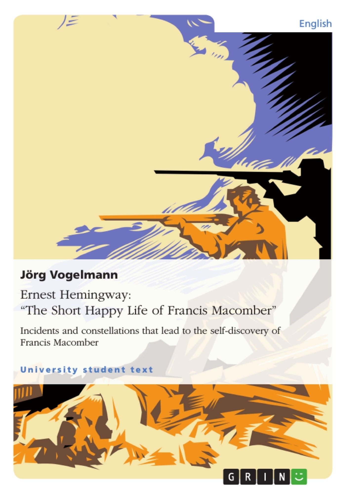 "the short and happy life of francis macomber essay The text ""the short happy life of francis macomber"" is a short story written in 1936 by an author called ernest hemingway the story revolves around three people."
