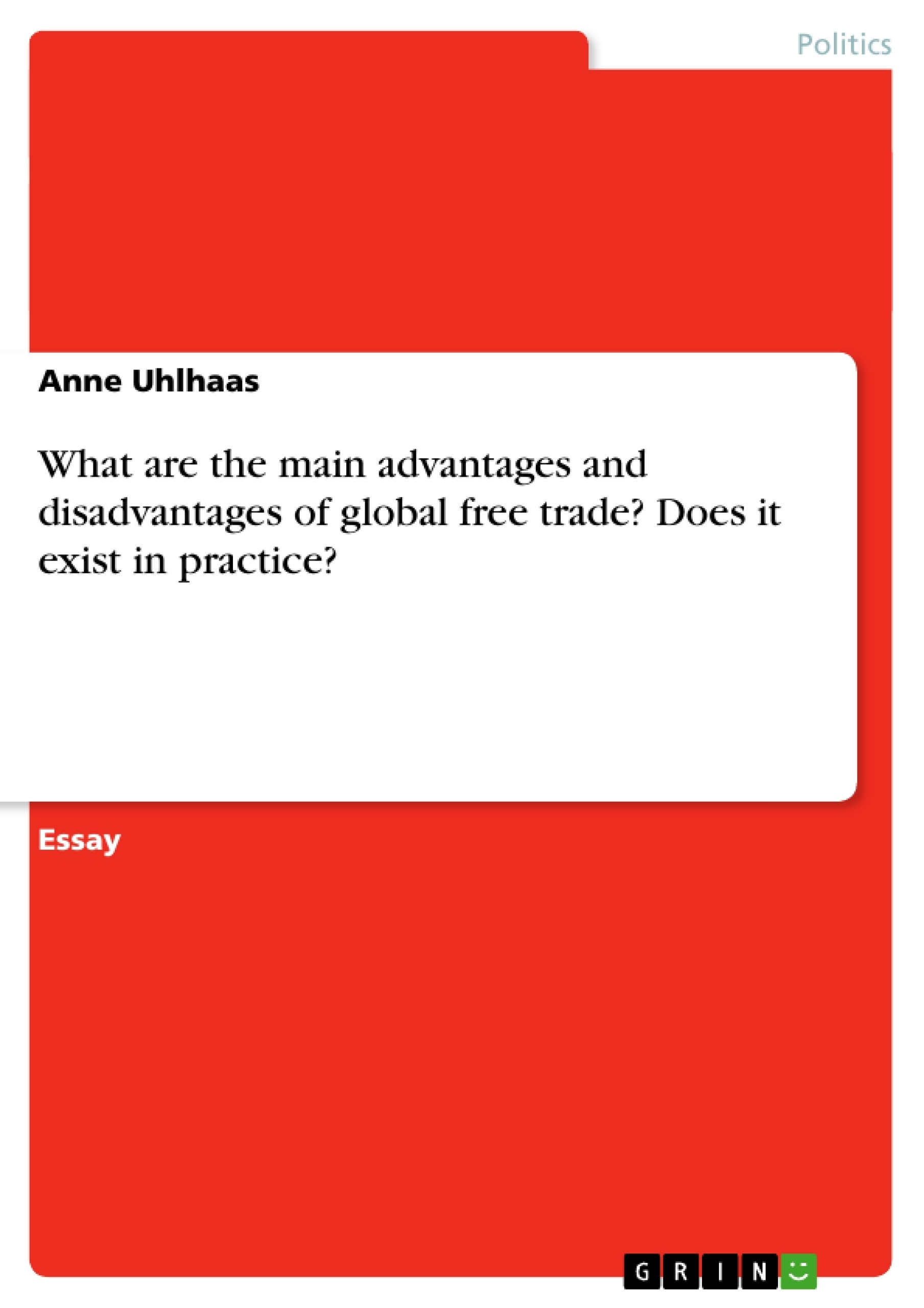 advantages and disadvantages of free trade economics essay Readers question: what are the advantages and disadvantages of the wto formally the gatt the wto is a body designed to promote free trade through organizing trade negotiations and act as an independent arbiter in settling trade disputes.