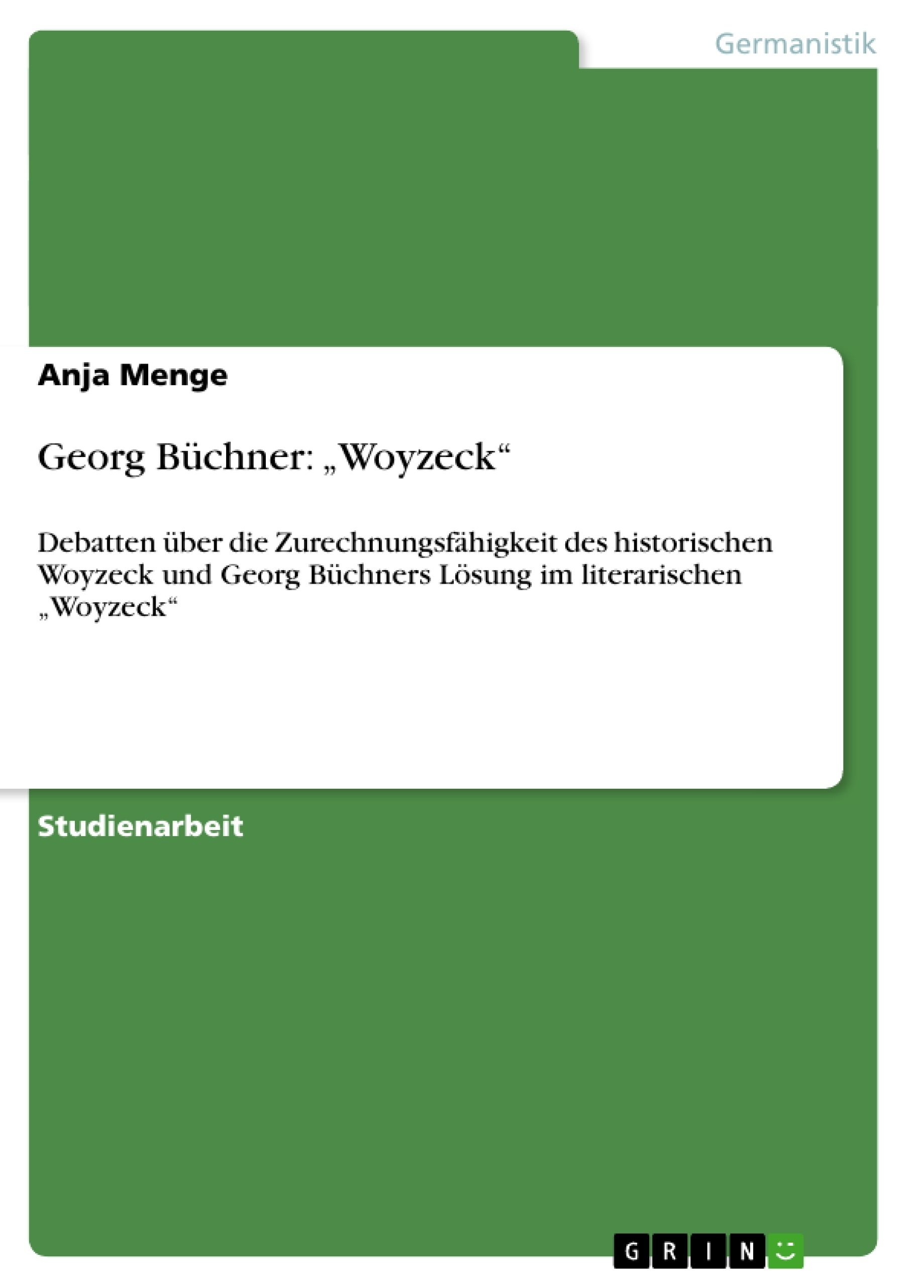 woyzeck essays Twit week 6 lecture #6: woyzeck study guide by summer_tiley includes 16 questions covering vocabulary, terms and more quizlet flashcards, activities and games help you improve your grades.