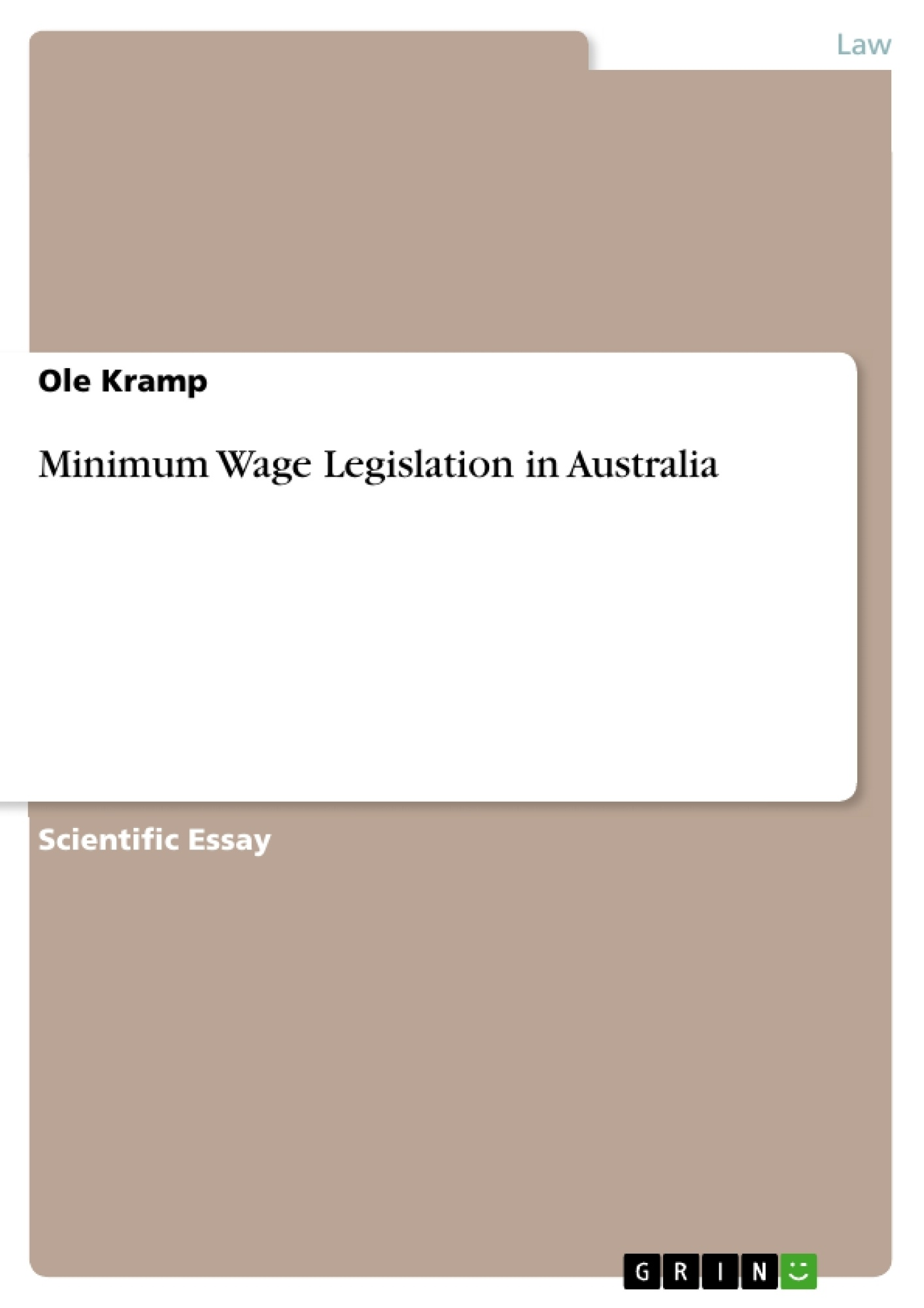 Minimum Wage Legislation Assignment