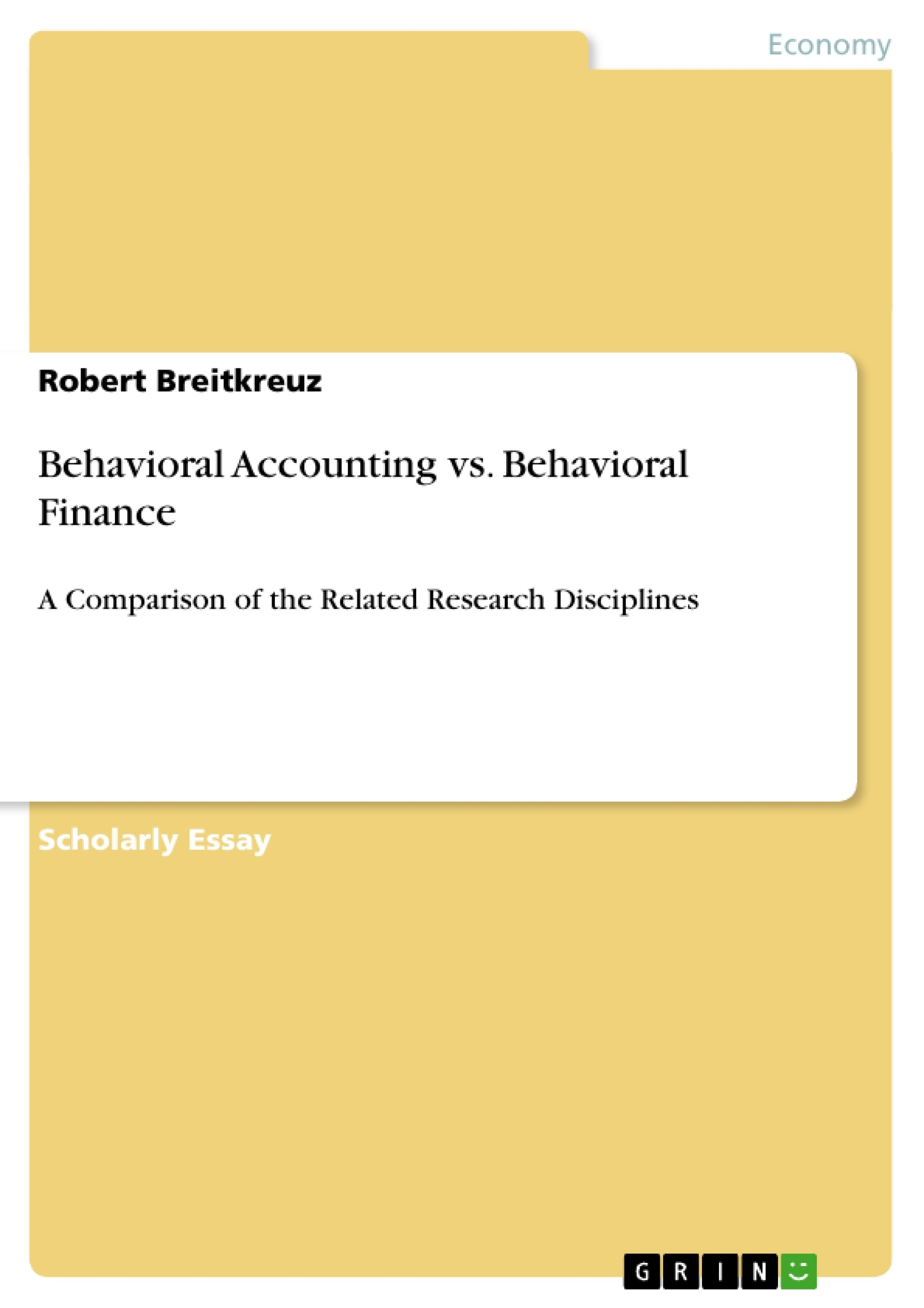 behavioral accounting vs behavioral finance publish your behavioral finance publish your master s thesis bachelor s thesis essay or term paper