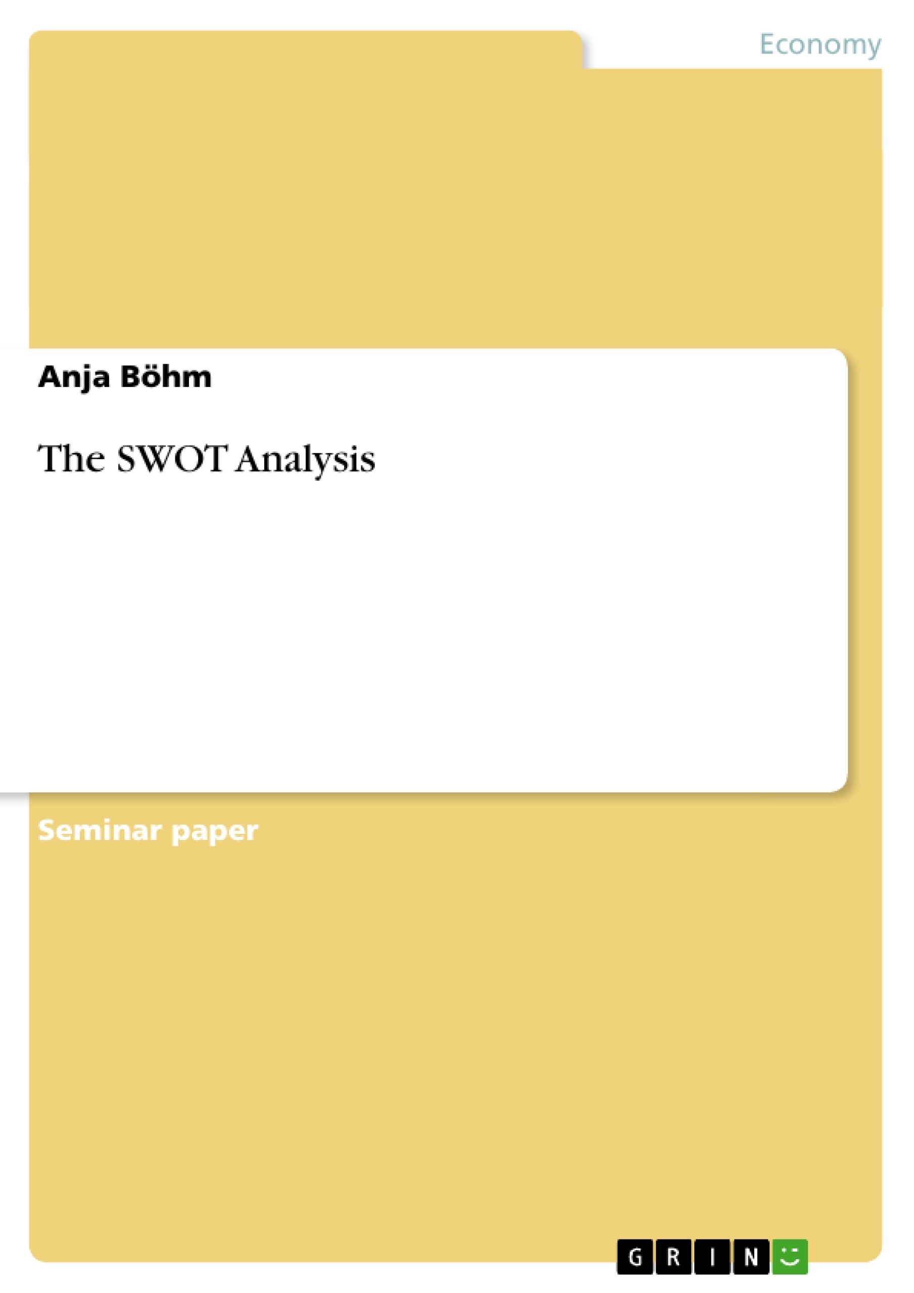 term paper on swot analysis Swot analysis for adam aircraft (aai) strengths high speed in design and production since speed was crucial to aai, it has instituted 24-hours scheduling.