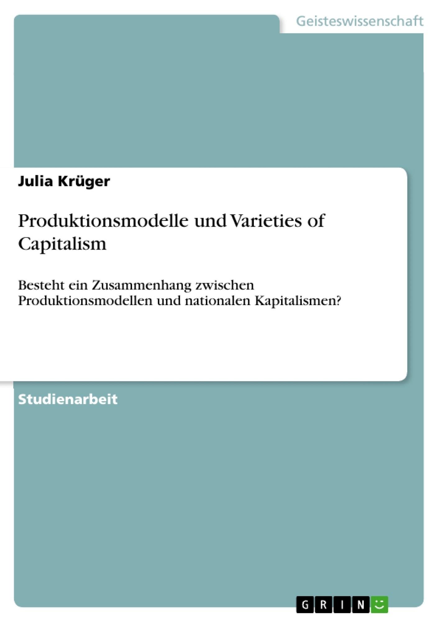 essay capitalism dead