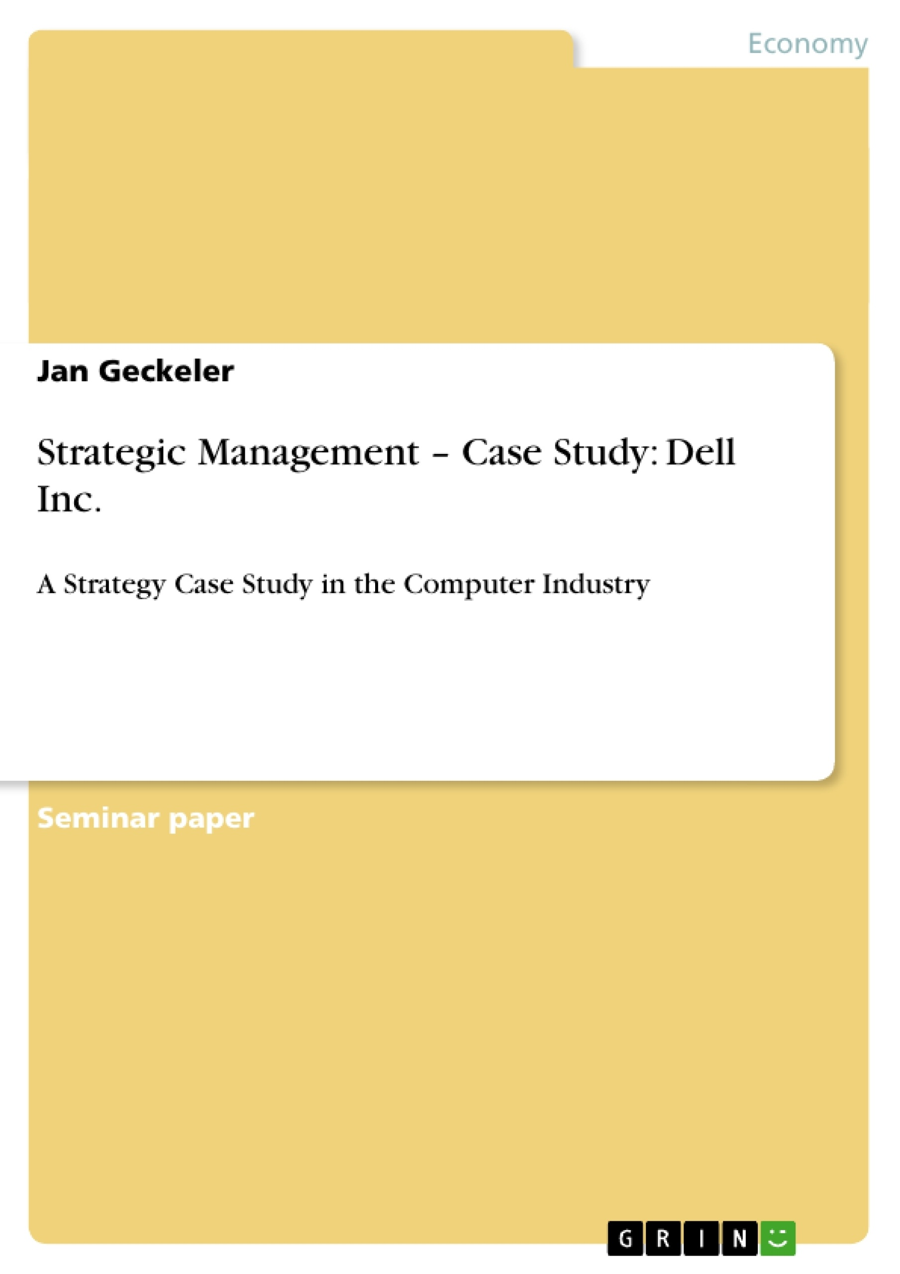 value chain analysis case study dell computers  value chain analysis case study dell computers