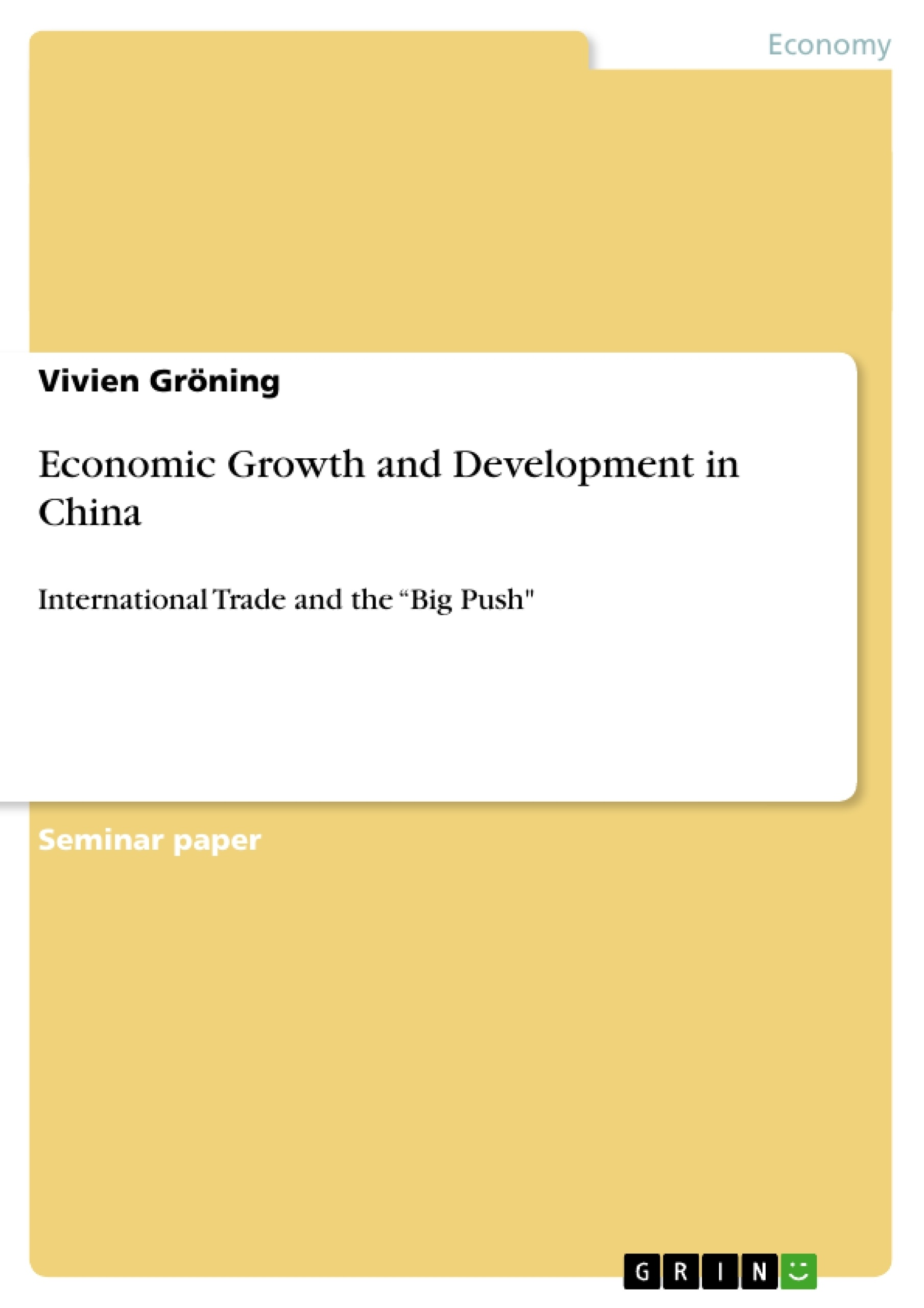 sustainable growth in china essay Free essays from bartleby   sustainable what sustainable development essay topics he uses the example of a modern day developing country such as china.