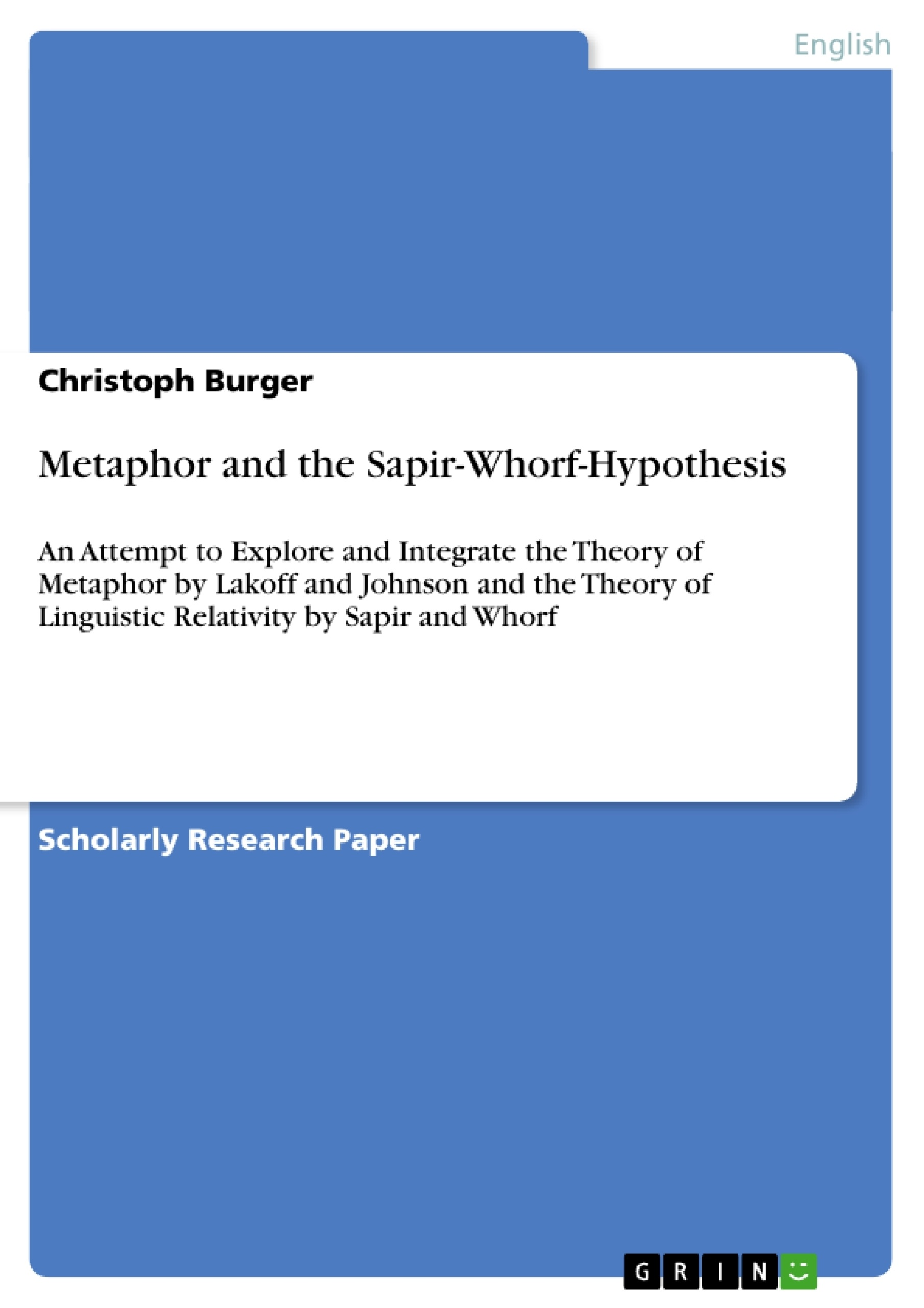 the sapir-whorf thesis states that The sapir-whorf hypothesis states that a languages are universal b some languages, such as english, are superior to others c perception and language are unrelated d language has ways of looking at the world embedded within it.