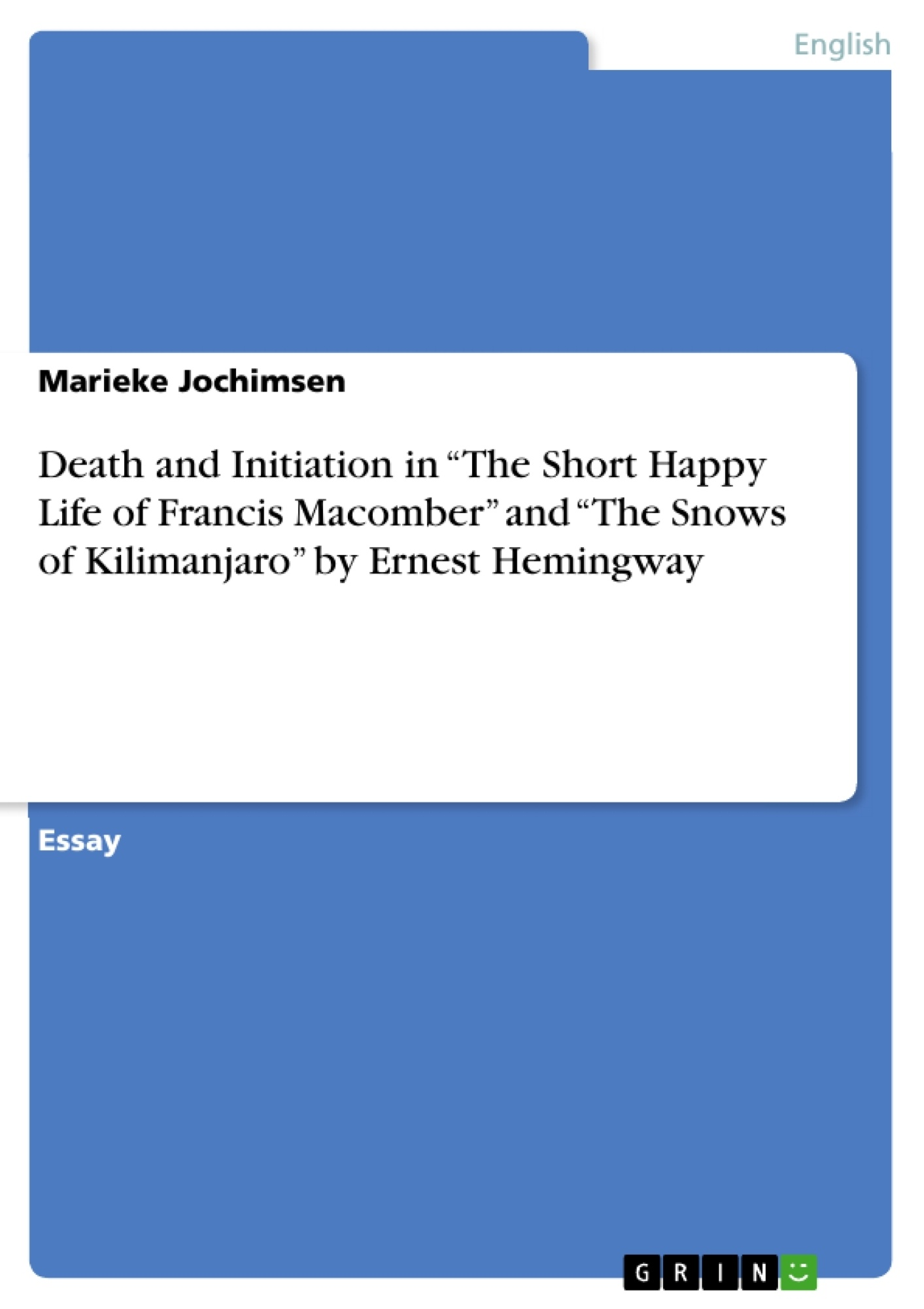 a summary of the short happy life of francis macomber by ernest hemingway The ernest hemingway short story the short happy life of francis macomber examines these questions within the scope of a few days in a disastrous african safari ernest hemingway on safari, circa 1934.