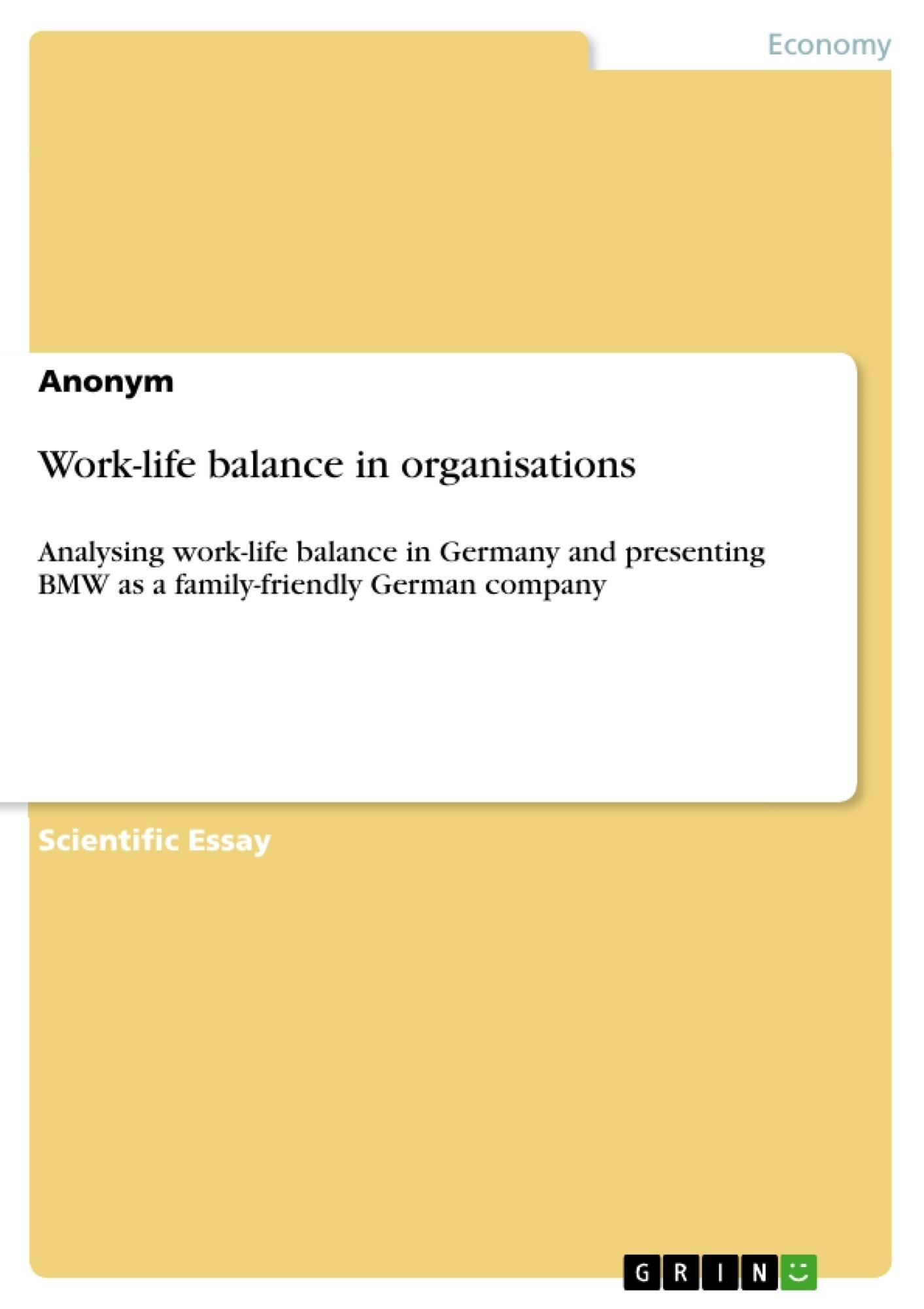 work life balance thesis