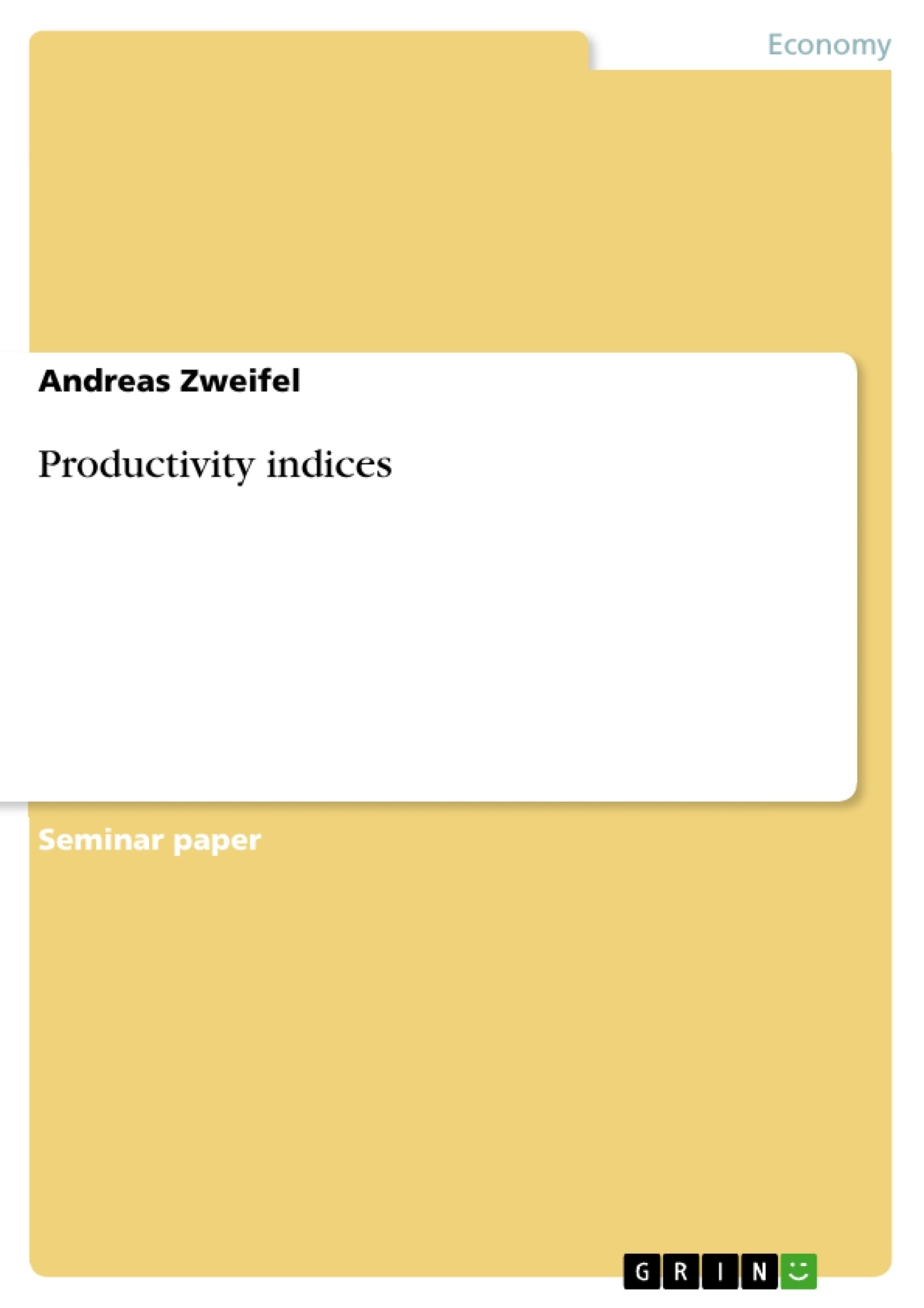 productivity term paper Open document below is an essay on productivity from anti essays, your source for research papers, essays, and term paper examples.