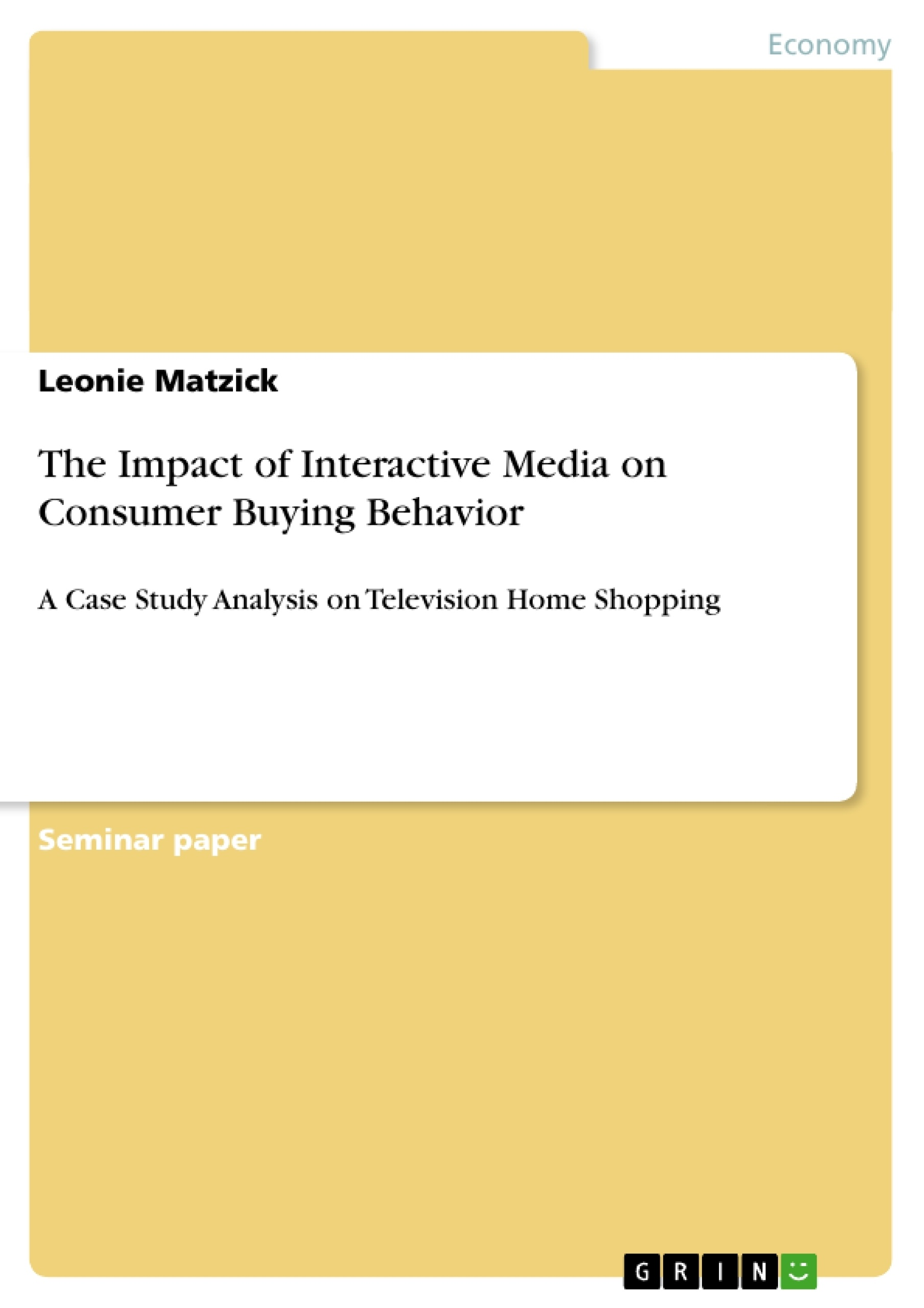 Buying behavior research paper