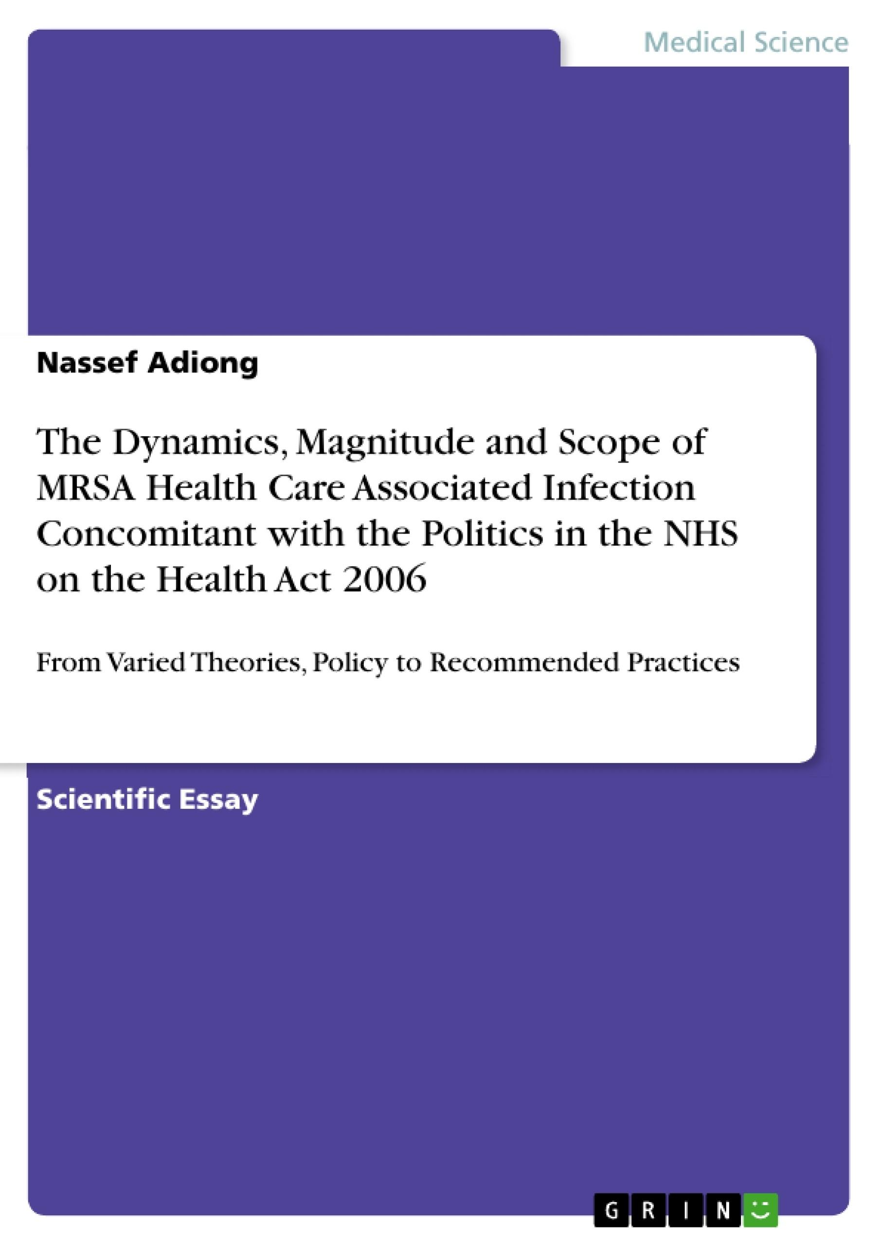 Essay on mrsa infection