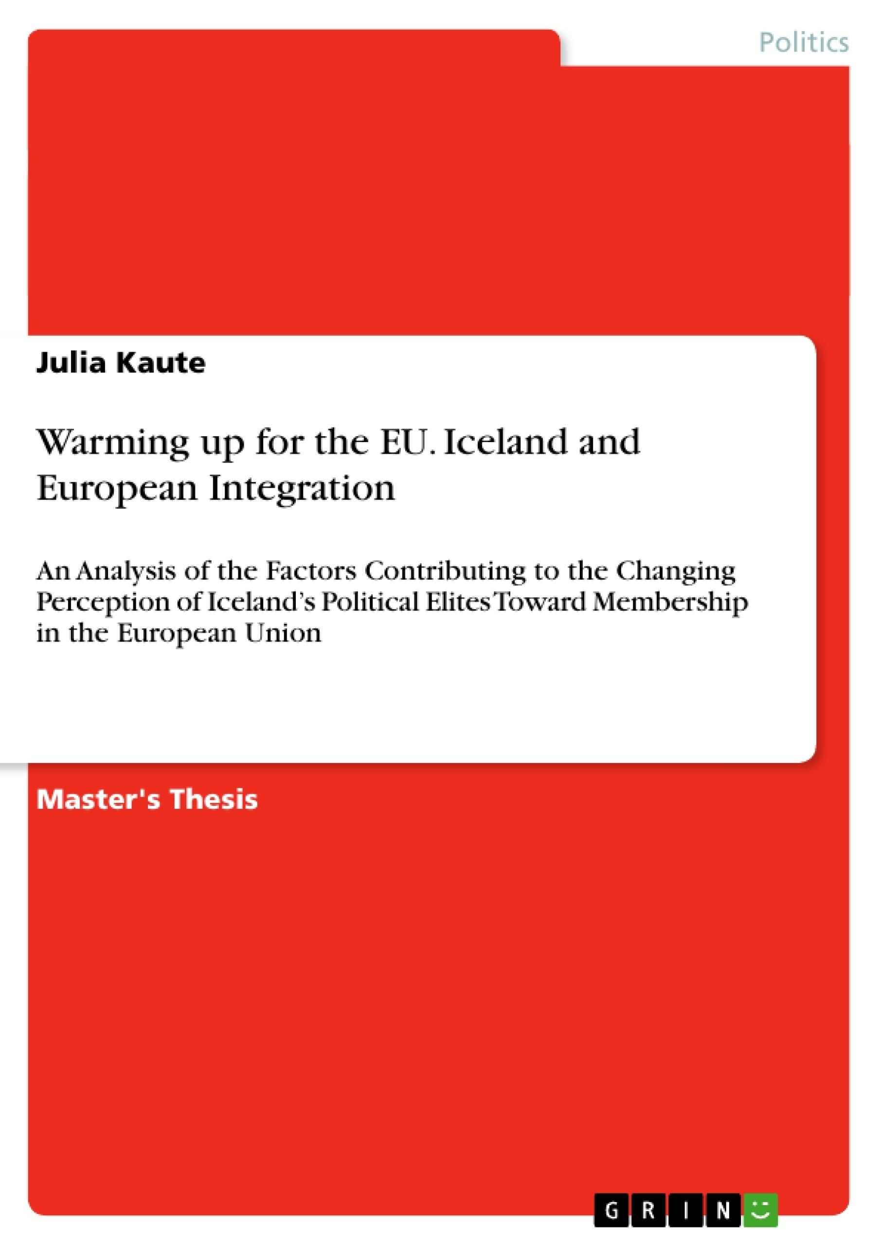 Master thesis european integration cartoons