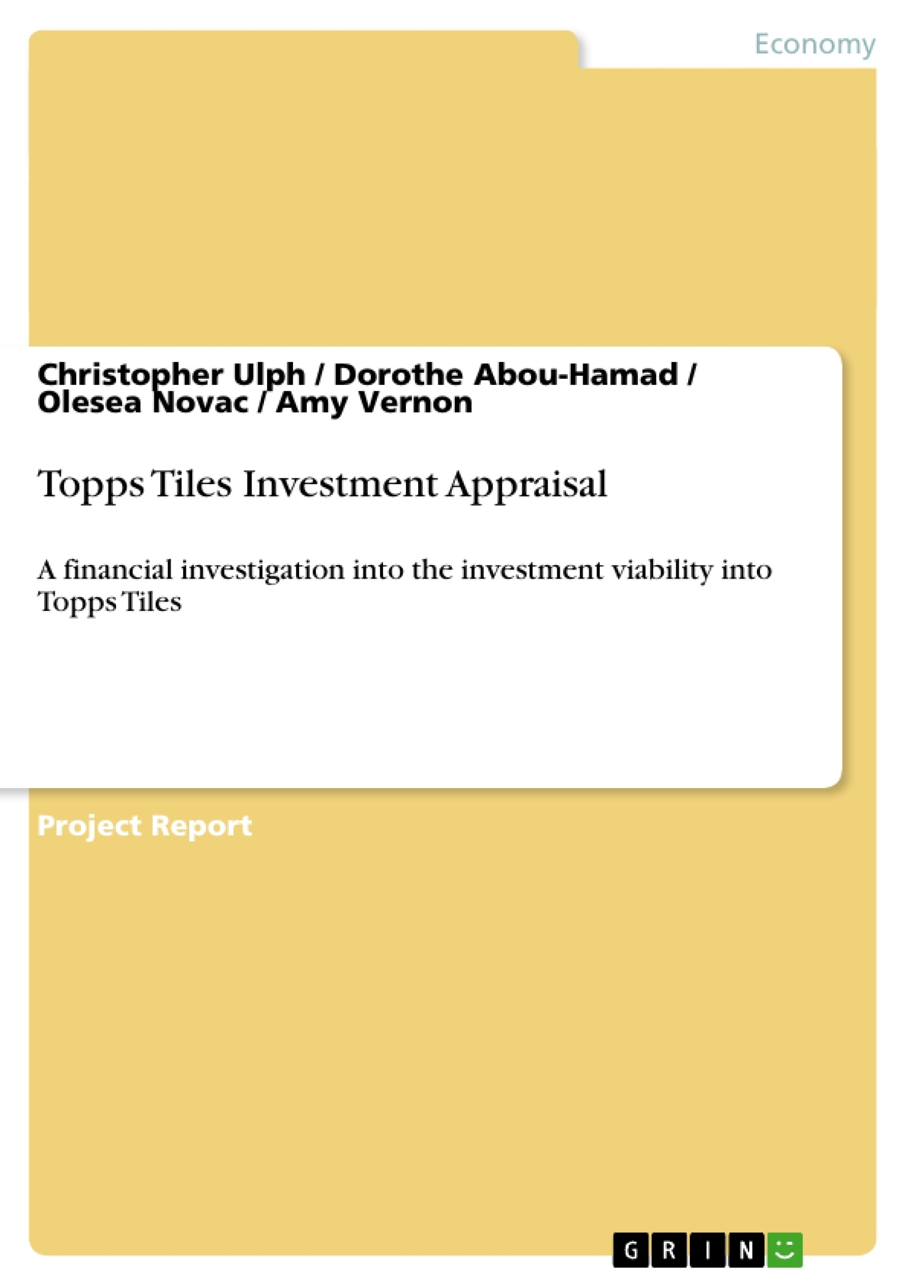 thesis on investment appraisal Break-even analysis of mining project  break-even analysis of mining project a thesis submitted in partial fulfillment of the  investment decision.