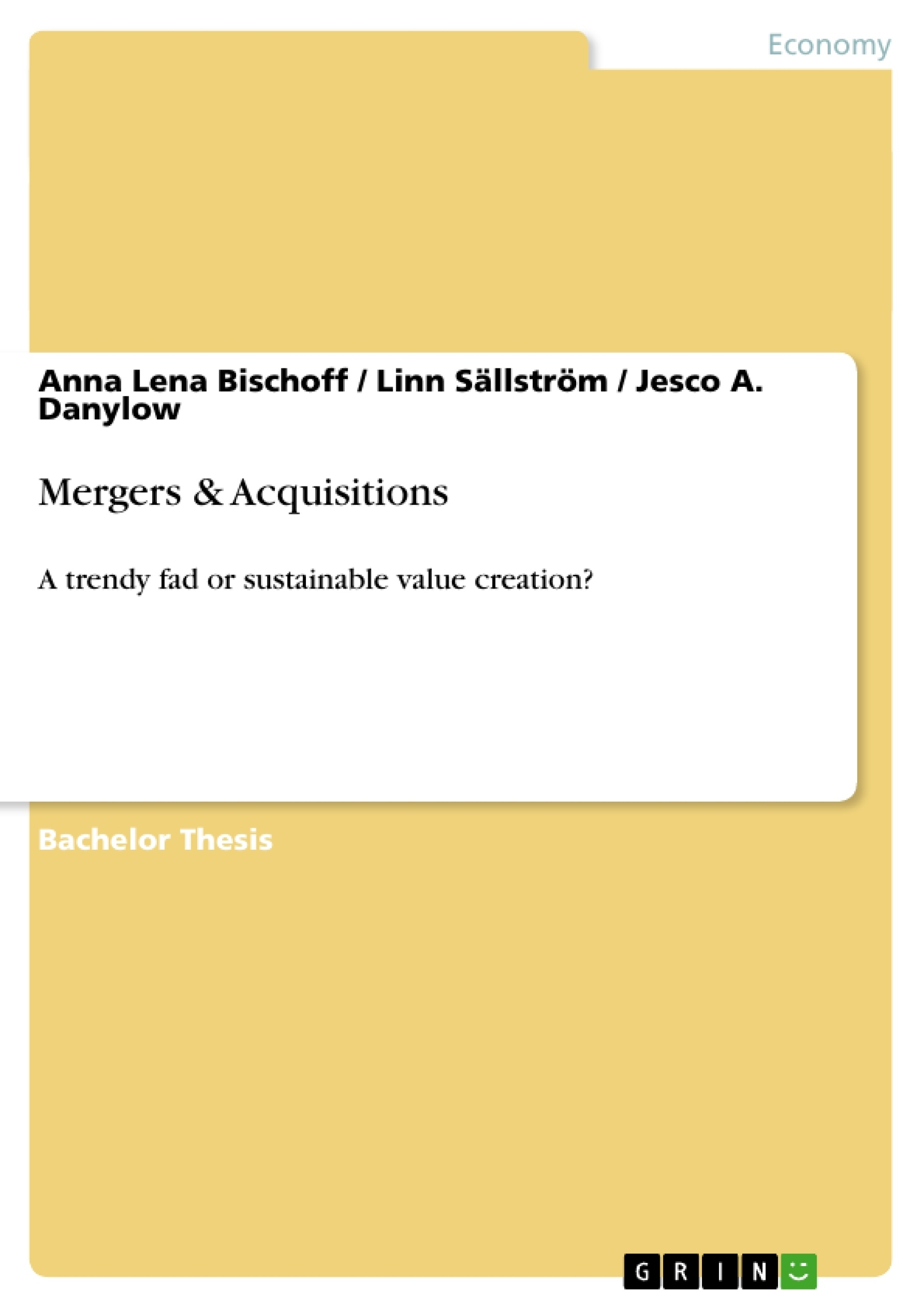 Term paper on mergers