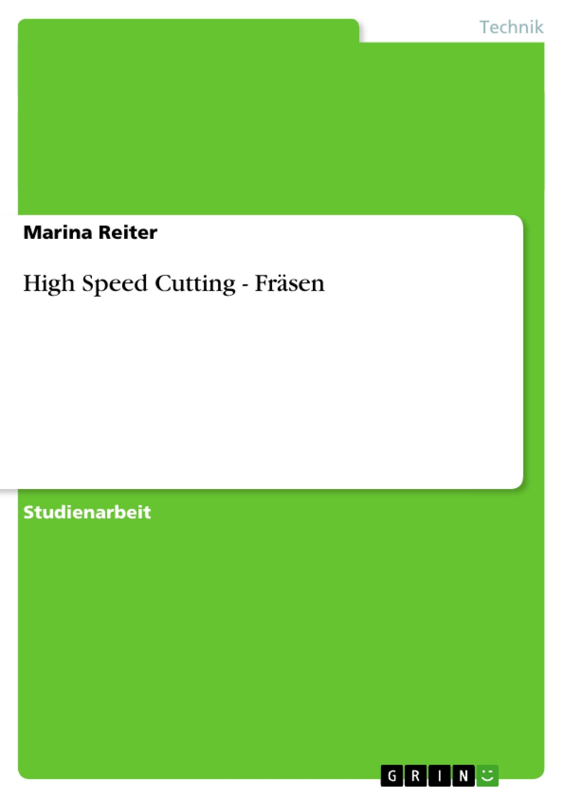 High speed cutting referat