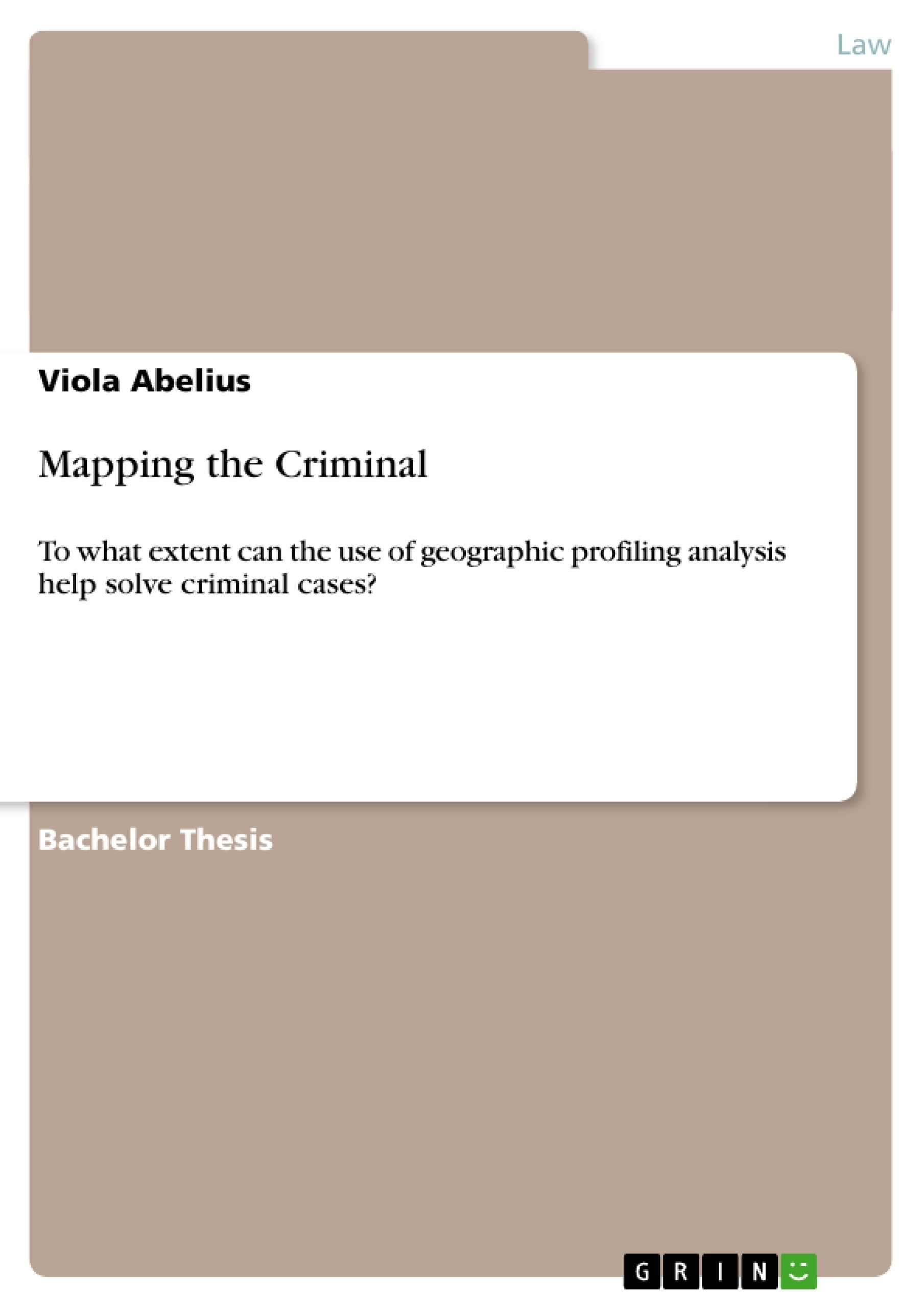 mapping the criminal publish your master s thesis bachelor s mapping the criminal publish your master s thesis bachelor s thesis essay or term paper