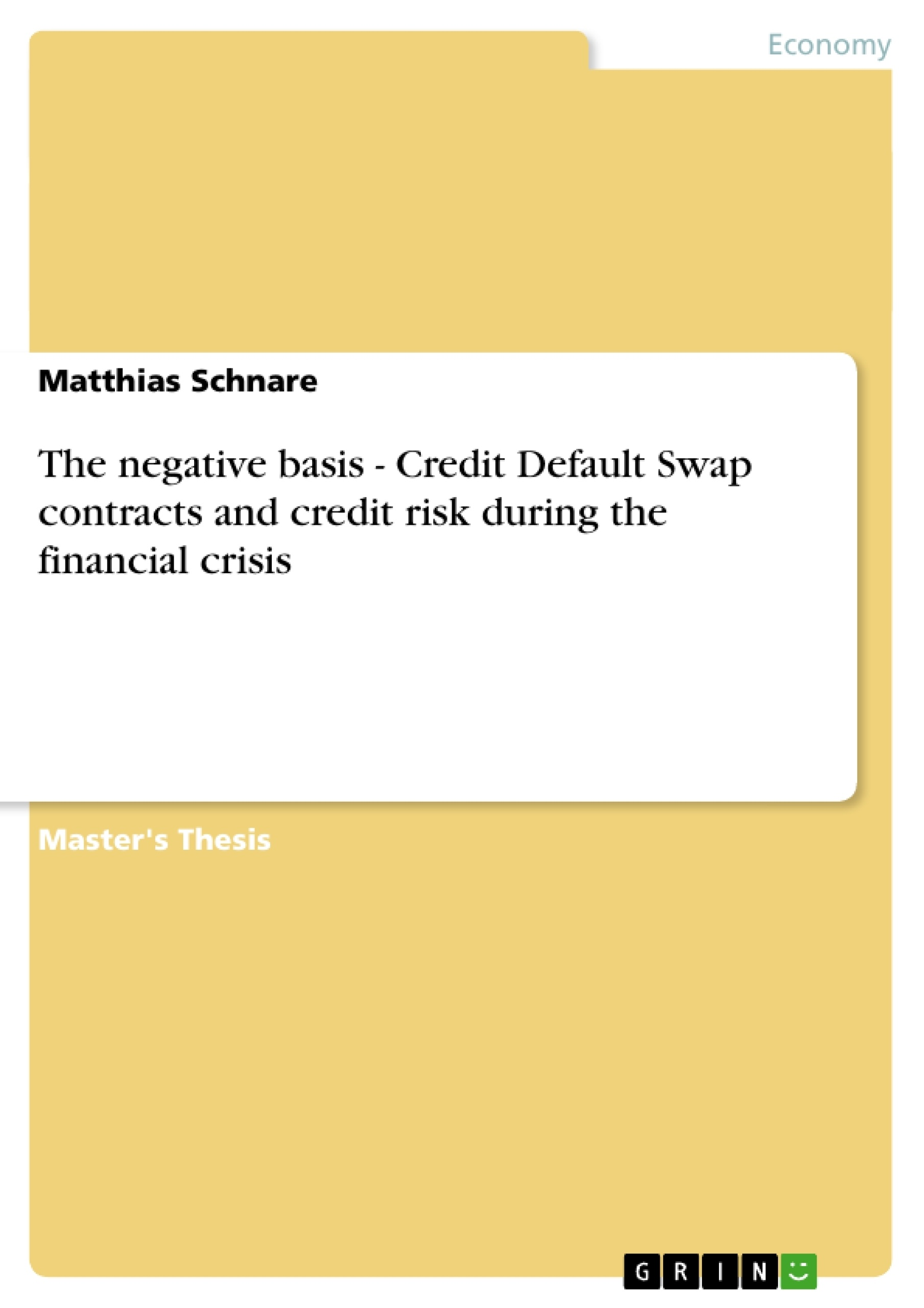 credit default swap master thesis