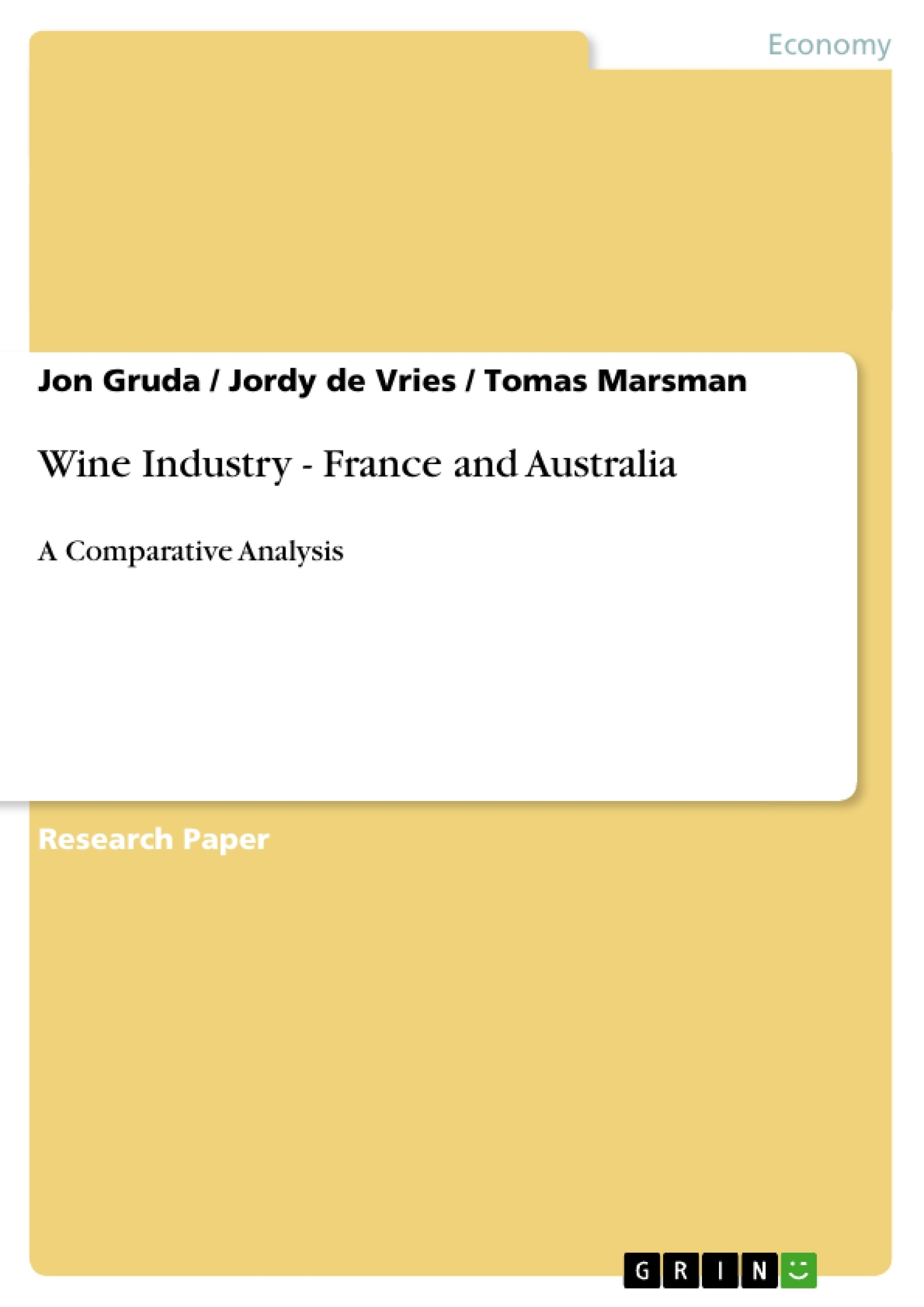 analysis of the wine industry essay