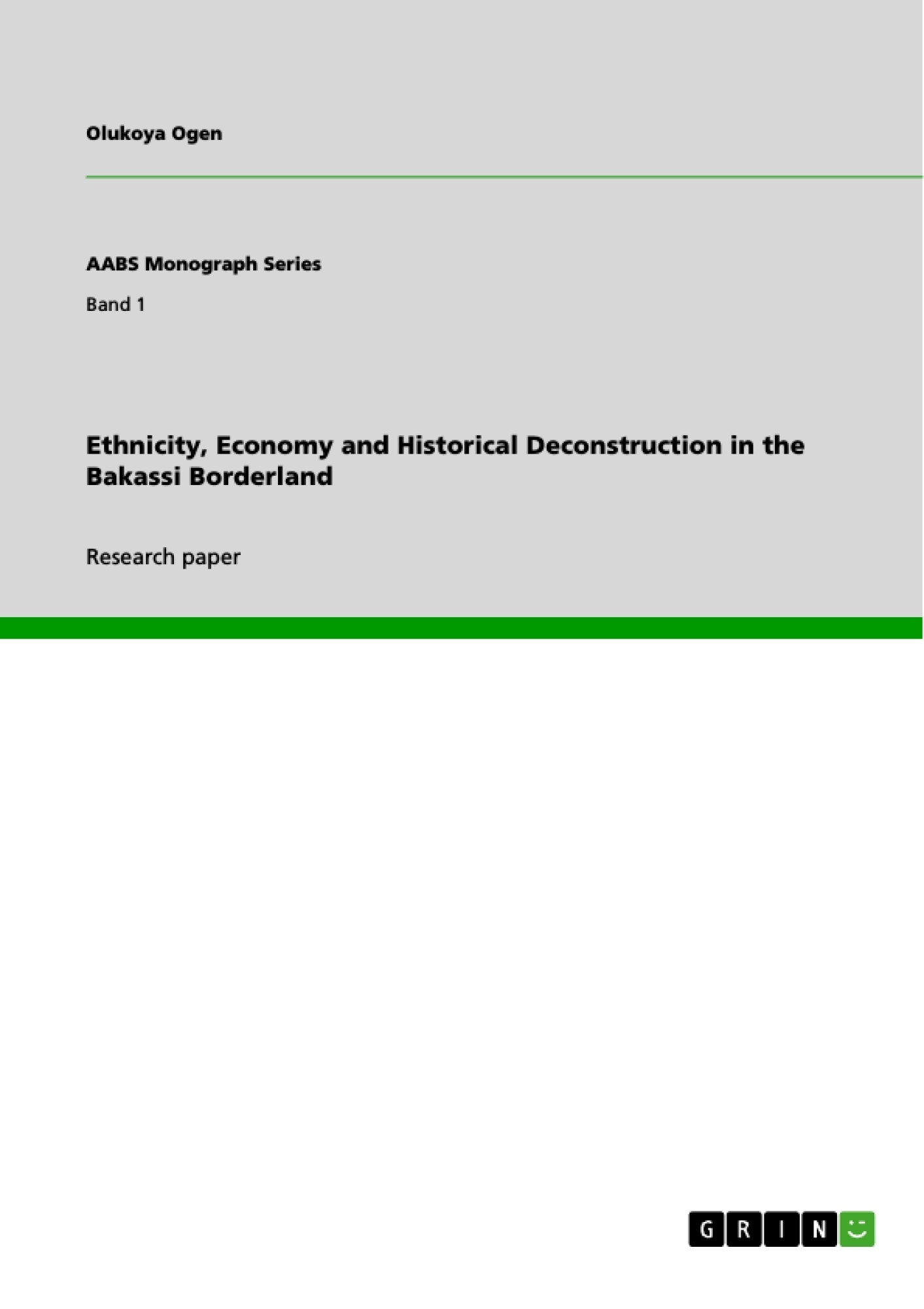 ethnicity economy and historical deconstruction in the bakassi ethnicity economy and historical deconstruction in the bakassi publish your master s thesis bachelor s thesis essay or term paper
