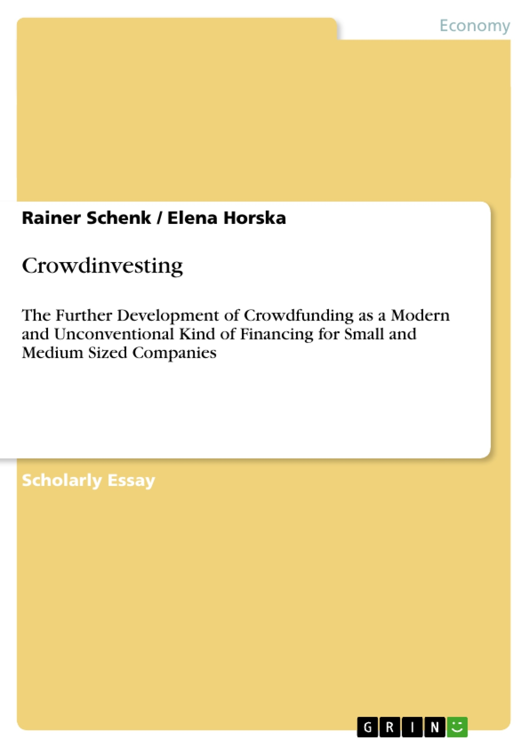 medium-sized and small enterprises financing thesis