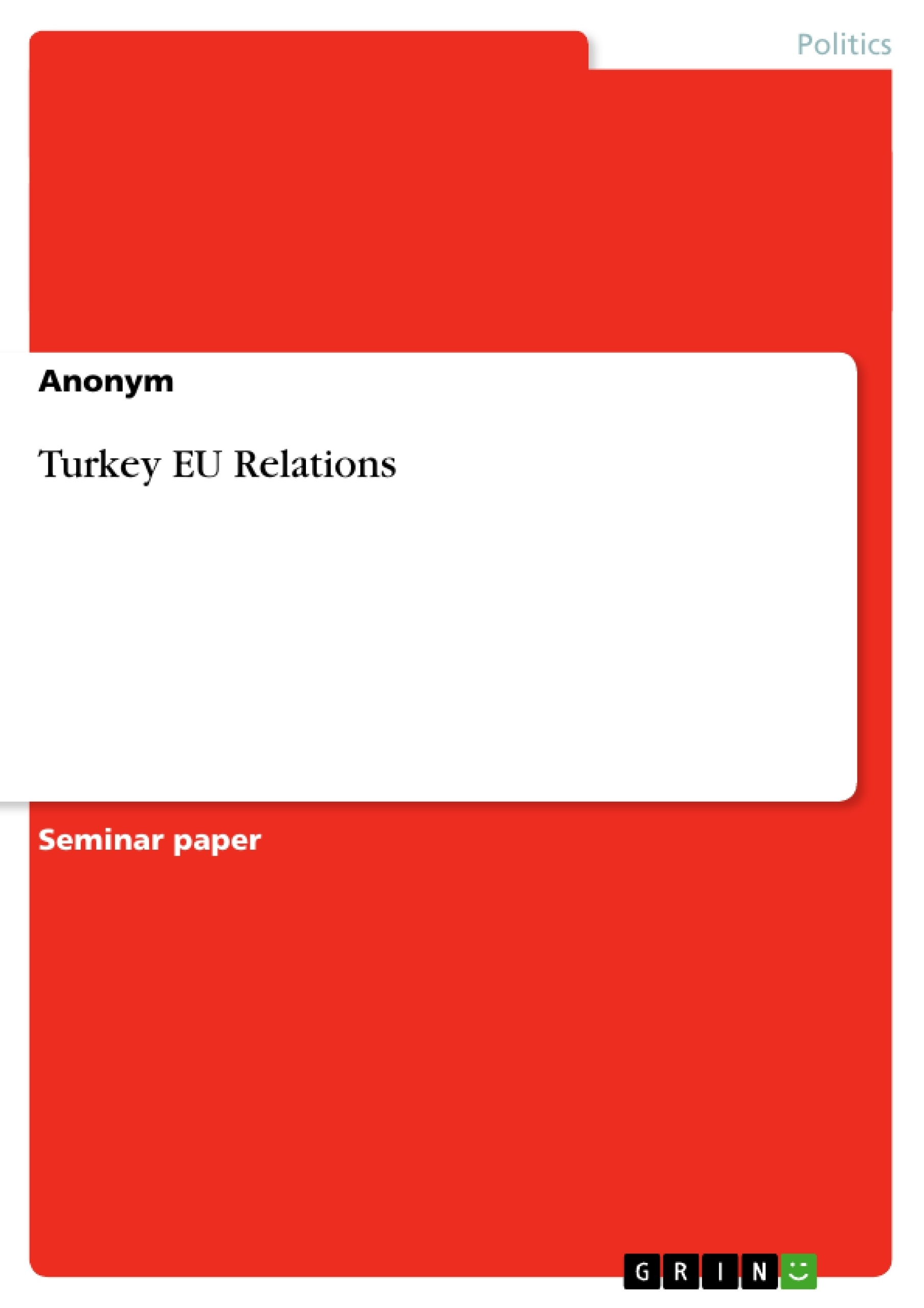 turkey eu thesis Turkey, migration and the eu: potentials, challenges and opportunities edited by seçil paçacı elitok and thomas straubhaar hamburg university press.
