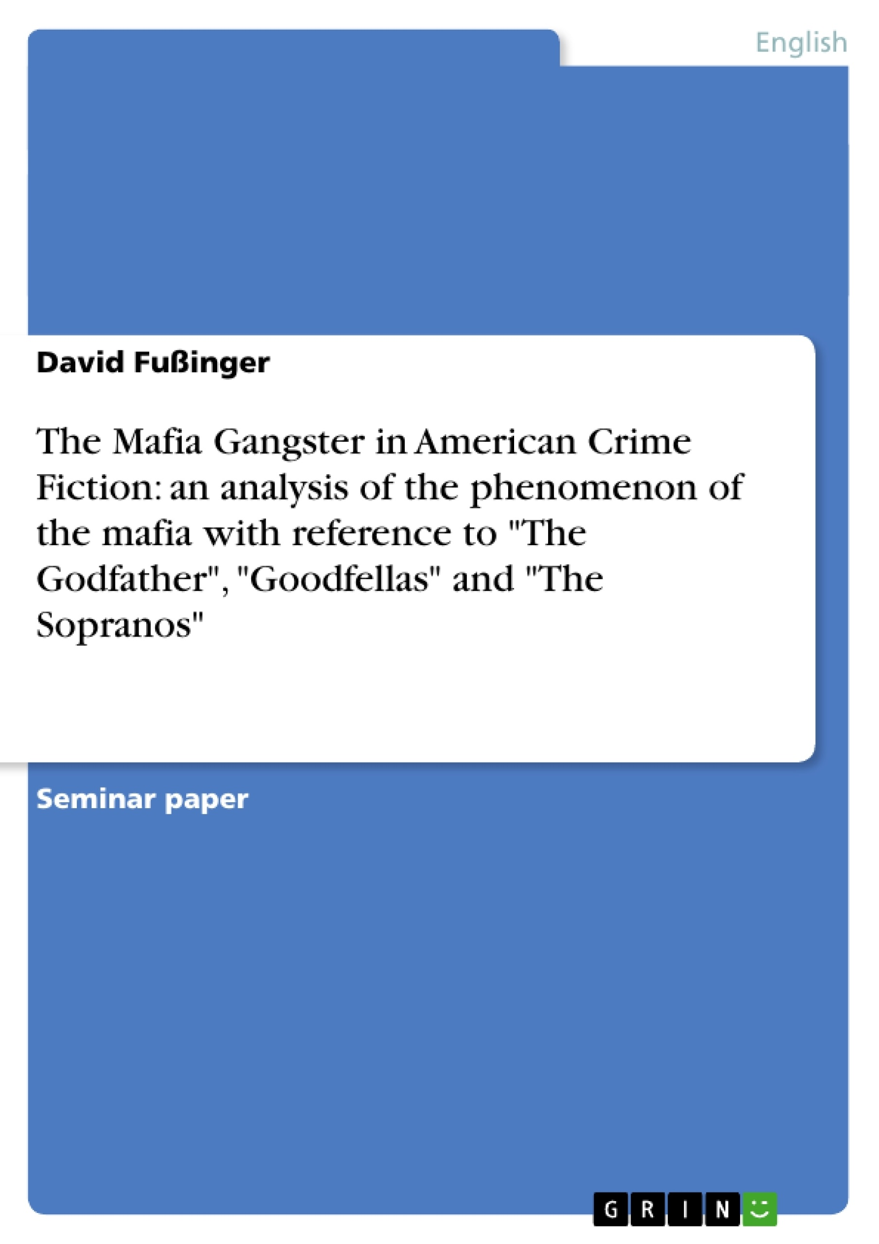 Contemporary lit Godfather term paper?