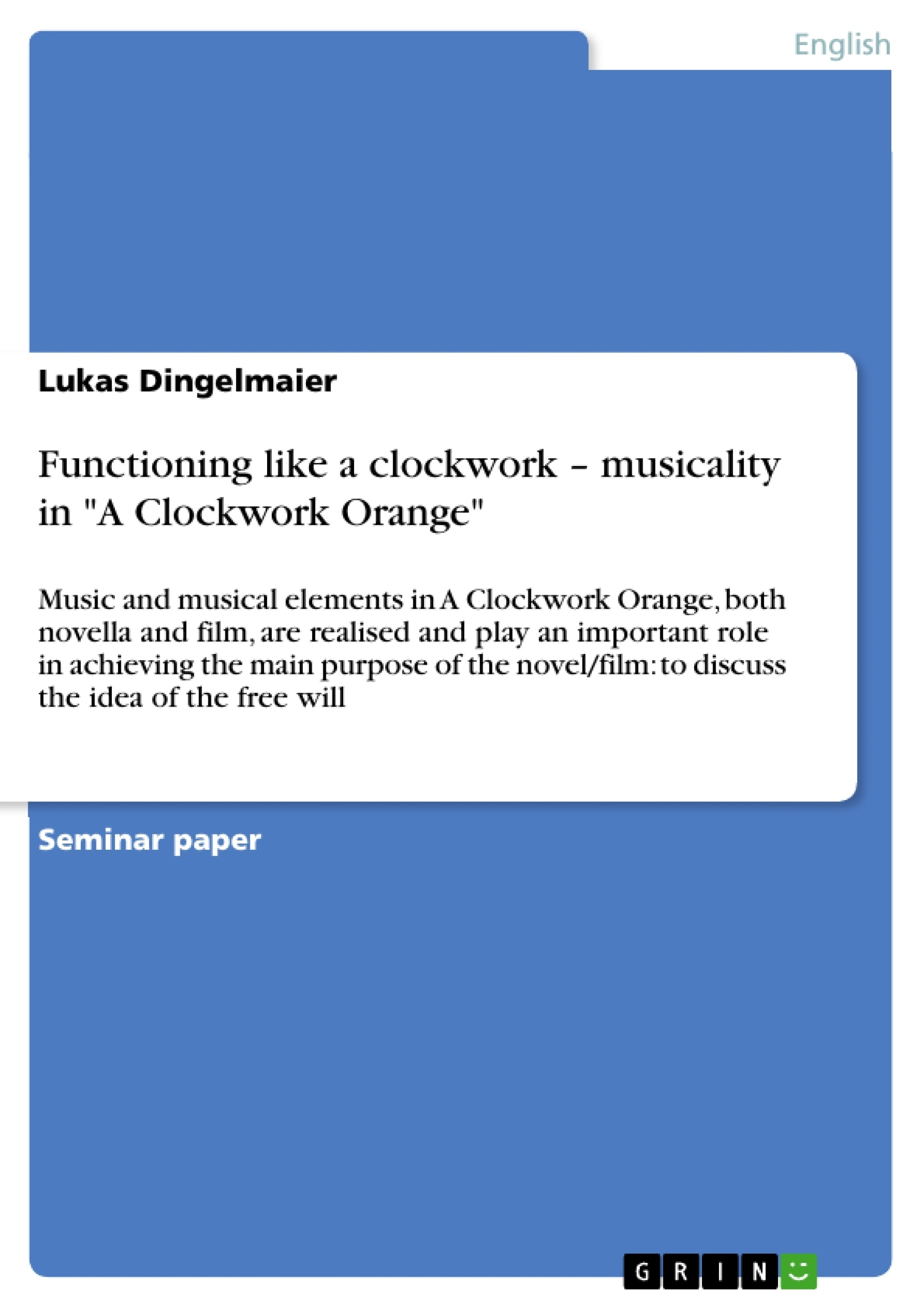 clockwork orange paper term