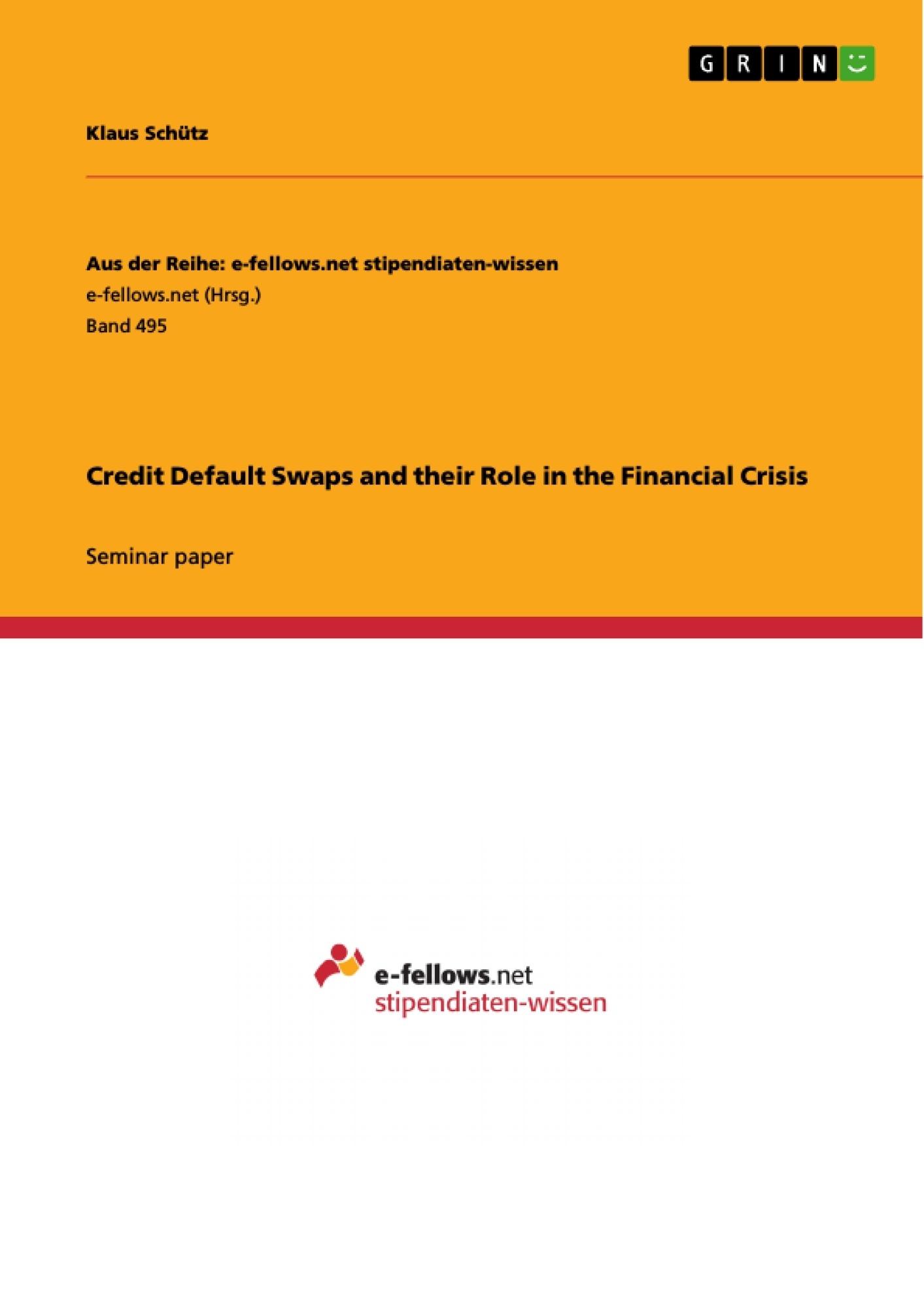 Кредитный дефолтный своп — Википедия