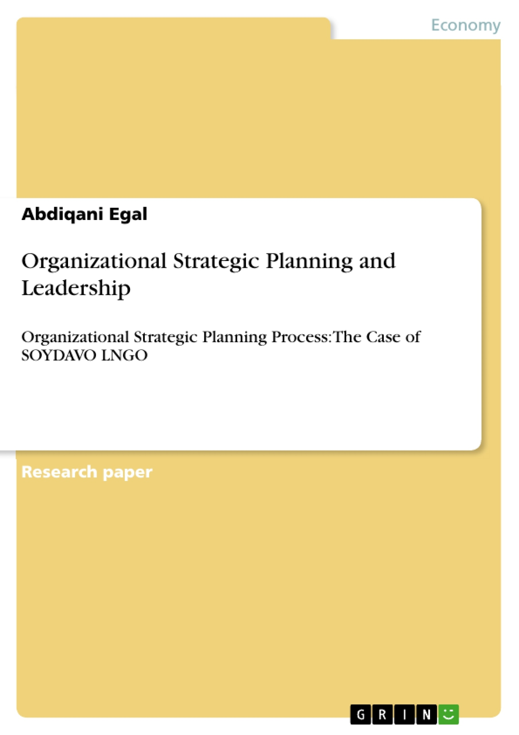 organizational planning essay Organizational change when executives and students of management talk about organizational change, they mean many different things introducing a new enterprise resource planning system in order to coordinate and standardize internal processes is an organizational change.