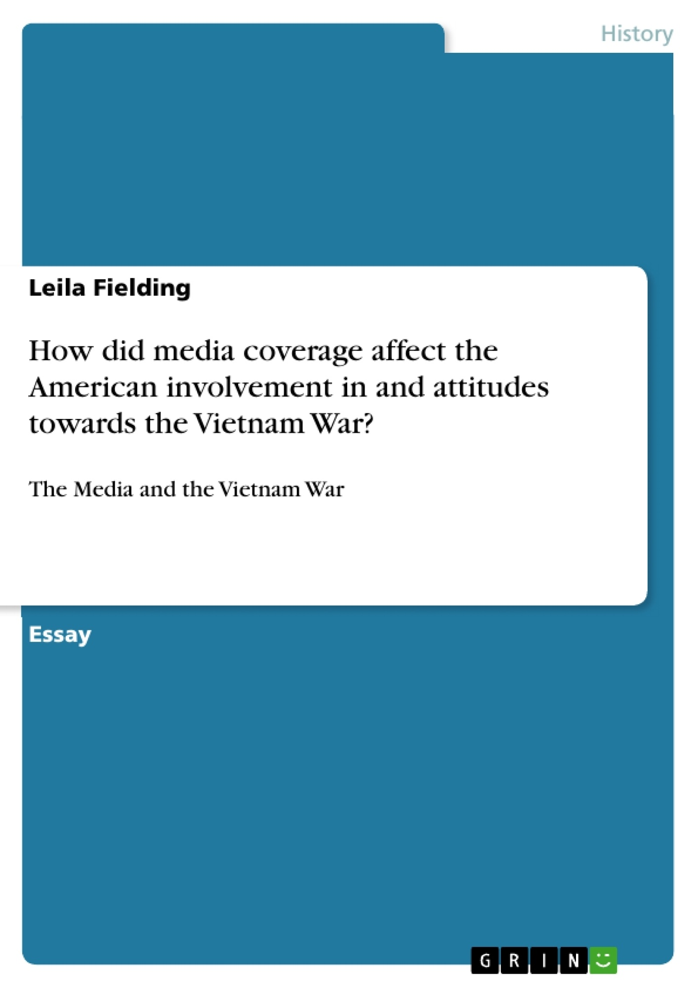 how did media coverage affect the american involvement in and how did media coverage affect the american involvement in and publish your master s thesis bachelor s thesis essay or term paper
