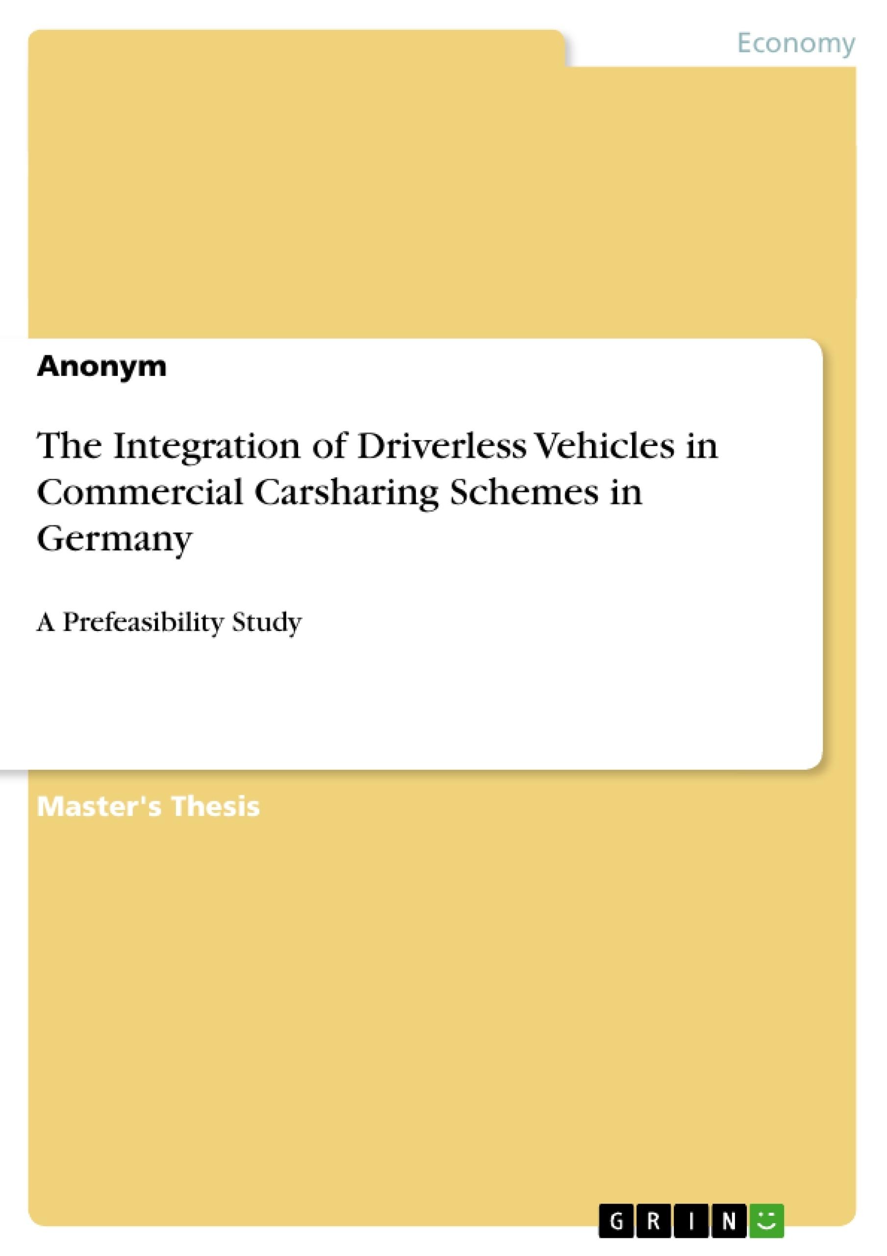 Master thesis carsharing