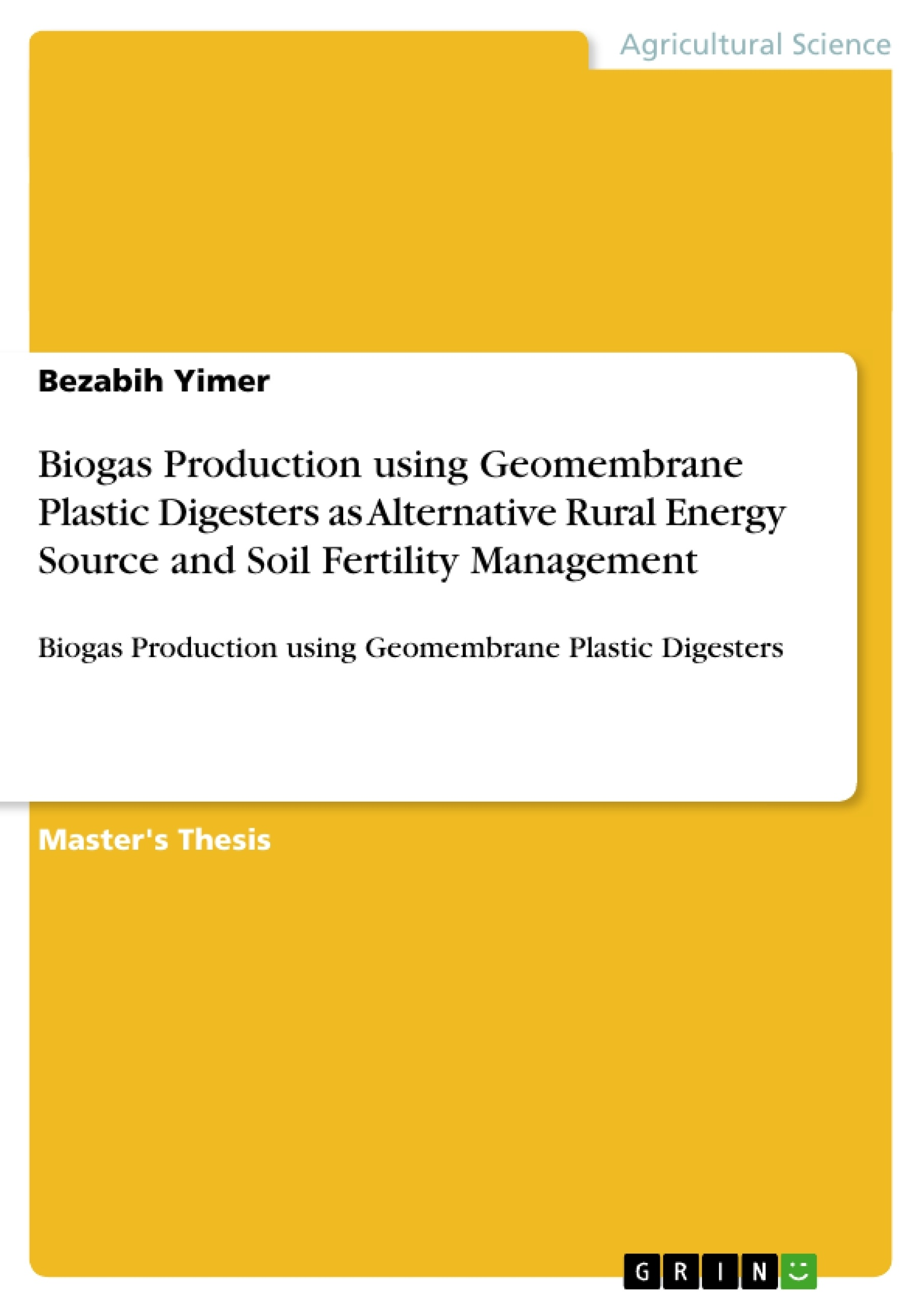 Master thesis biogas