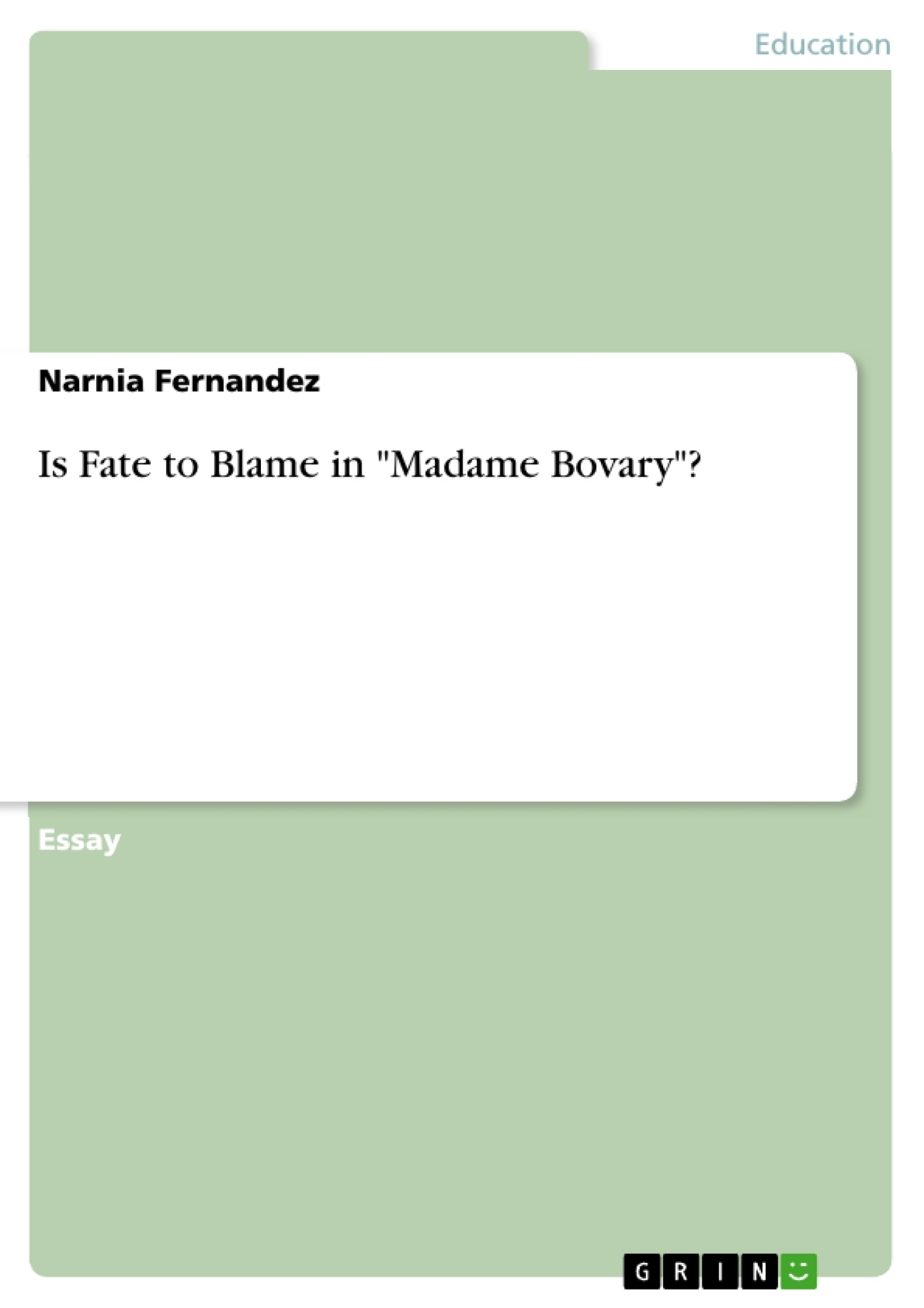 madame bovary essay topics is fate to blame in quotmadame bovaryquot publish your masters