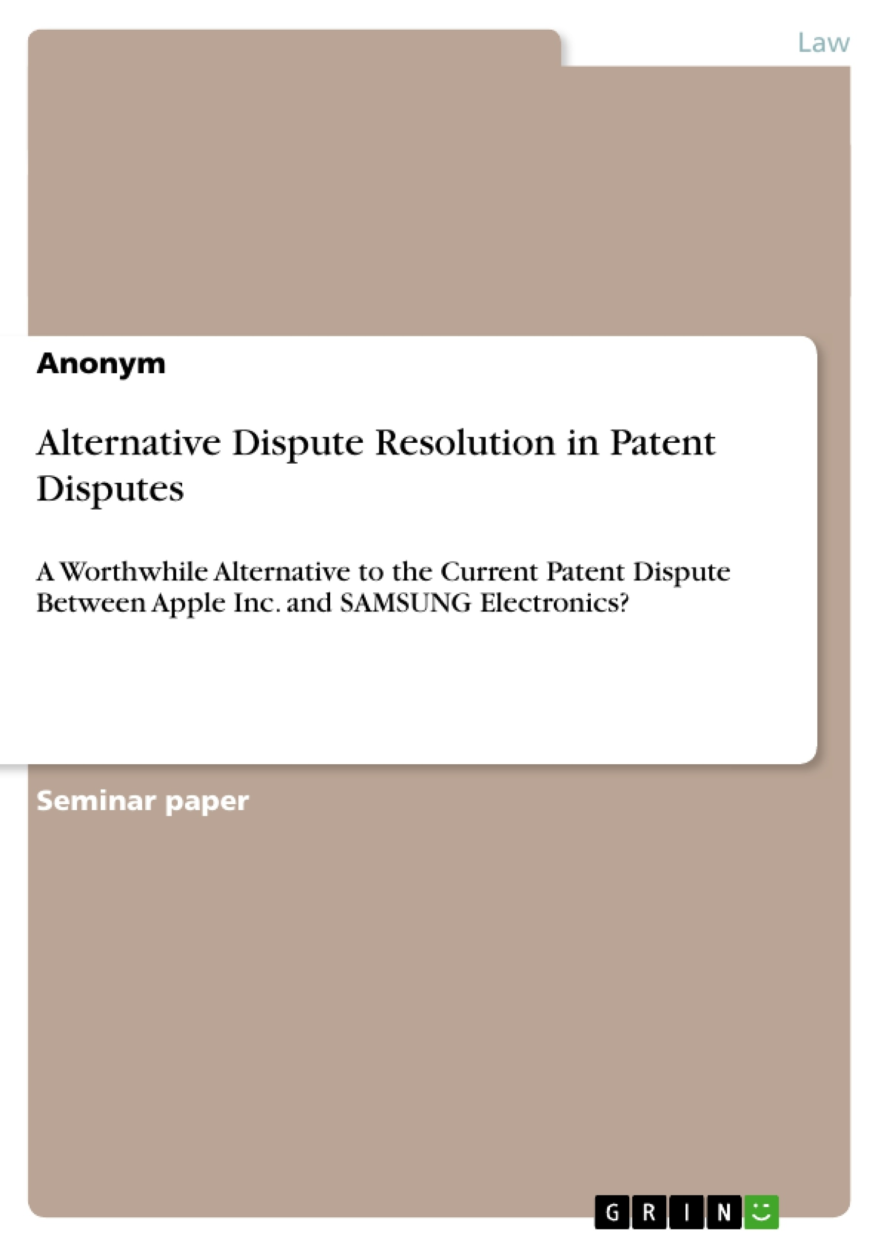 Alternative Dispute Resolution in Patent Disputes | Publish your ...
