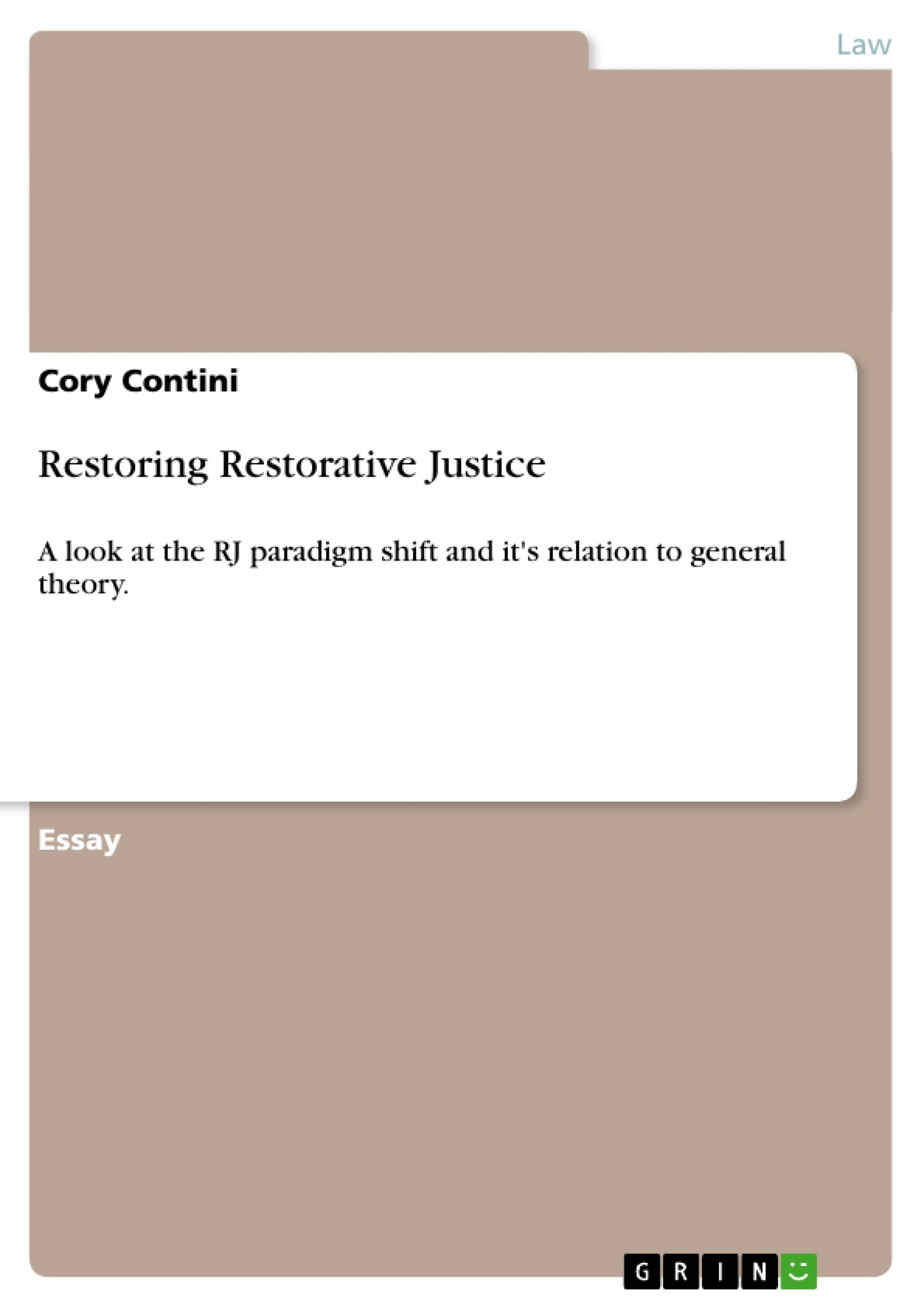 how to write an essay on restorative justice Essay question: students will prepare an academic essay that addresses the following question: does restorative justice work in doing so students will need to.