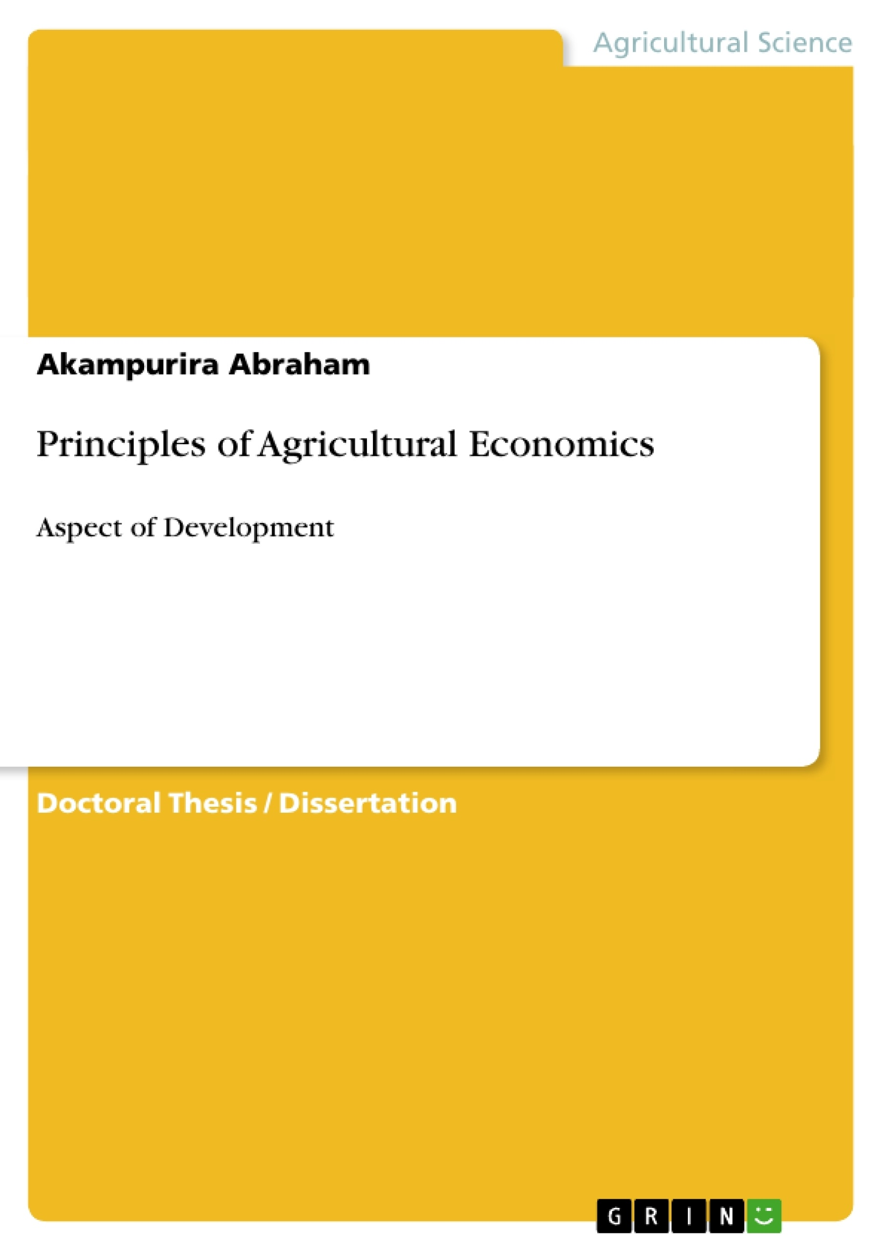 Master thesis agricultural economics
