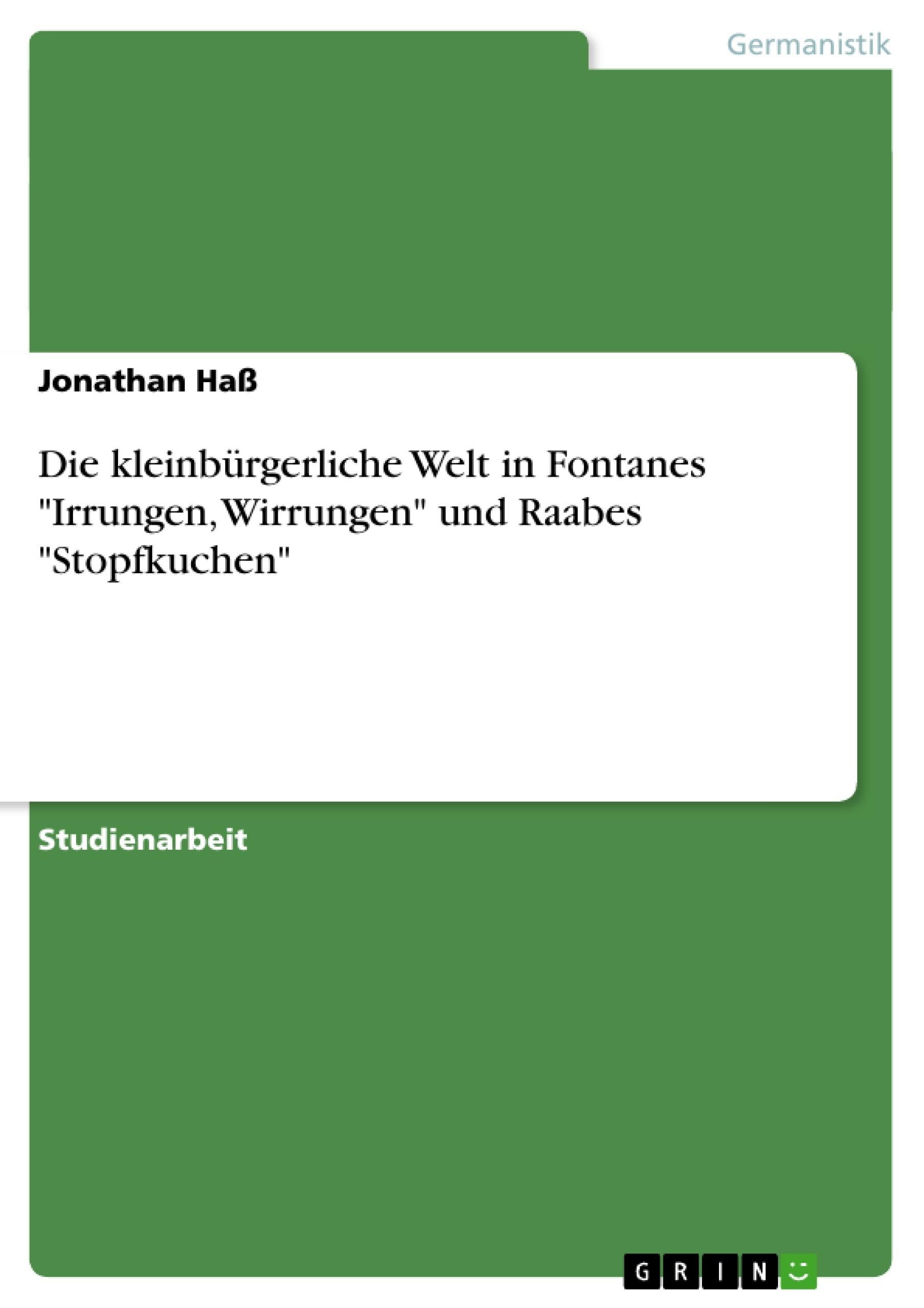 Theodor Fontane irrungen wirrungen interpretation
