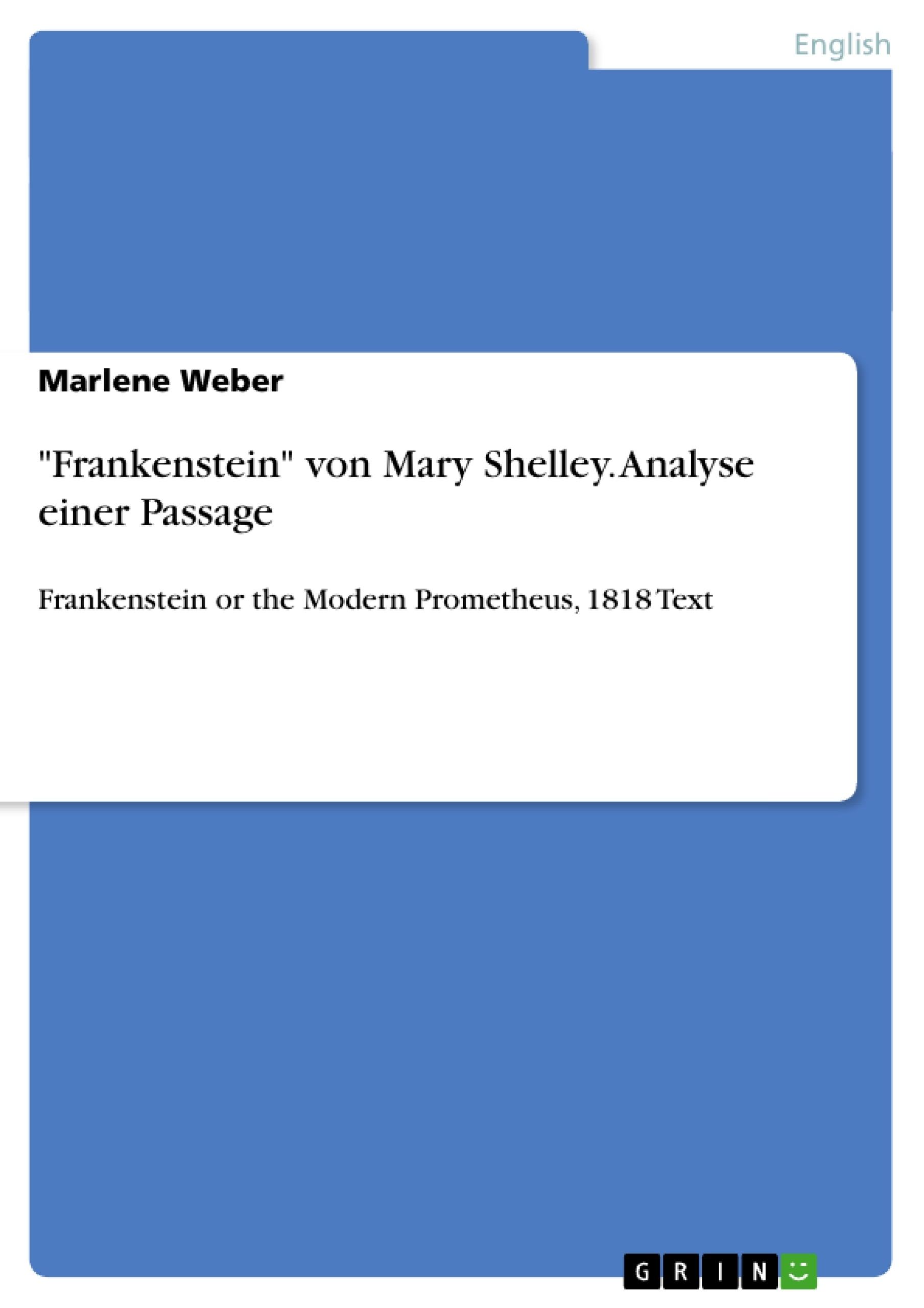 frankenstein term papers