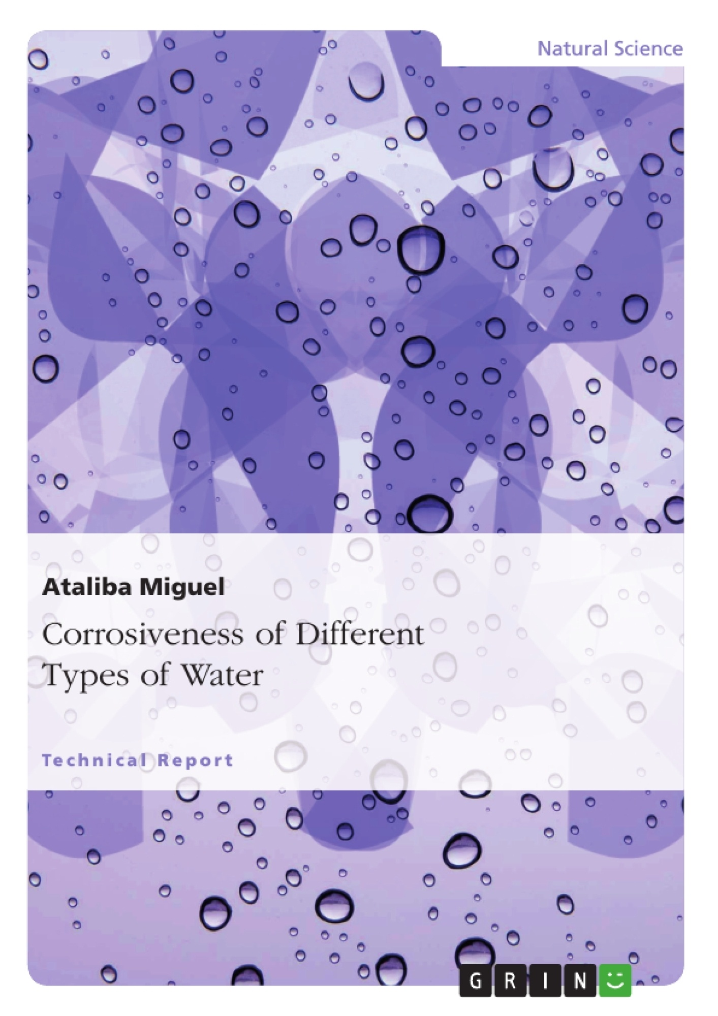 Corrosiveness of different types of water publish your for Different type of water