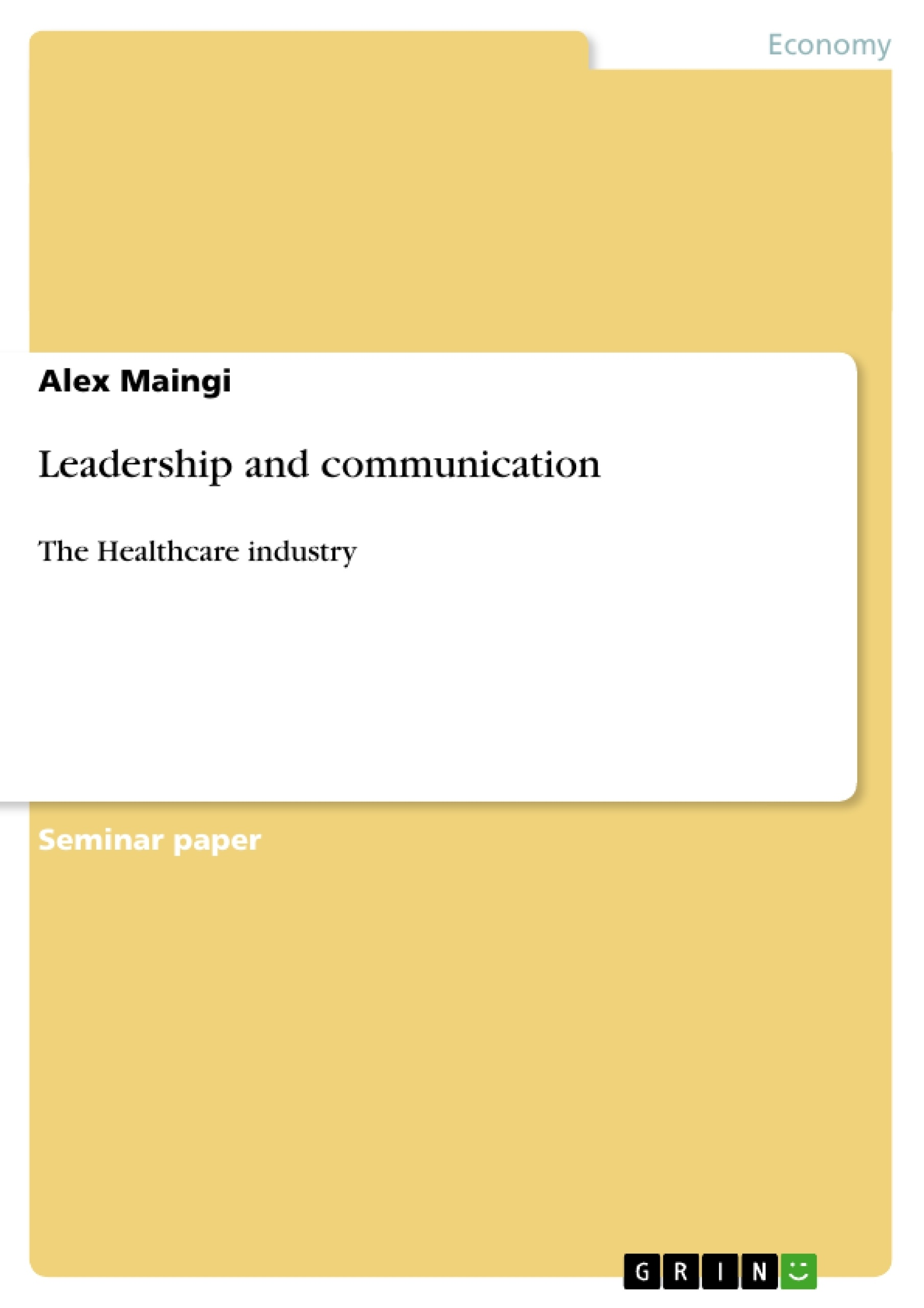 term paper on communication