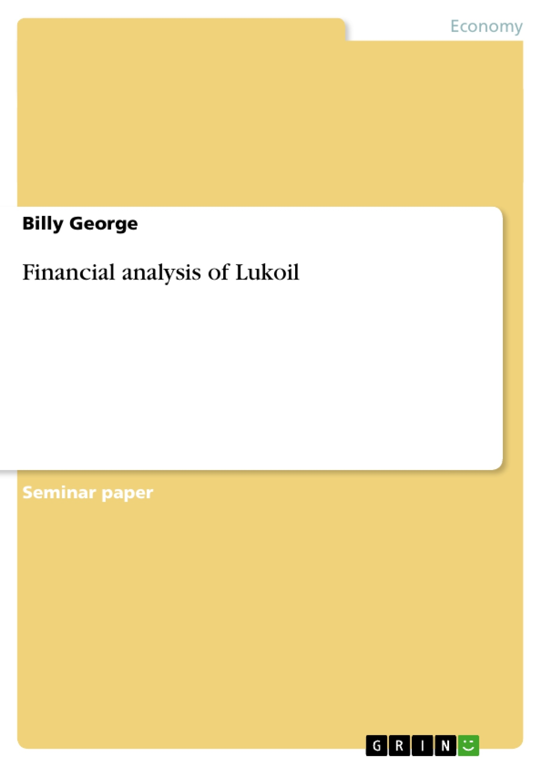 term paper financial analysis