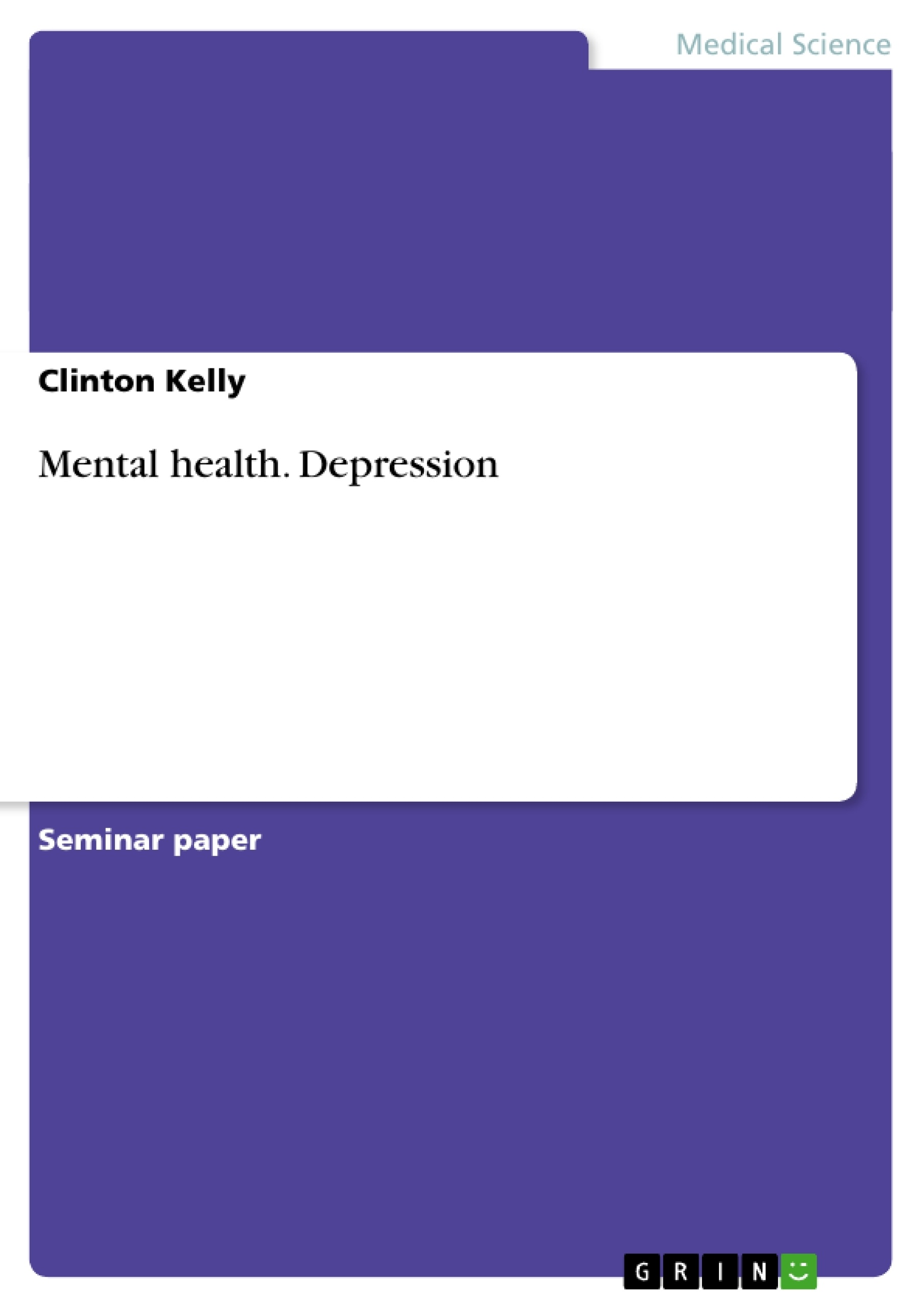 Mental health term papers