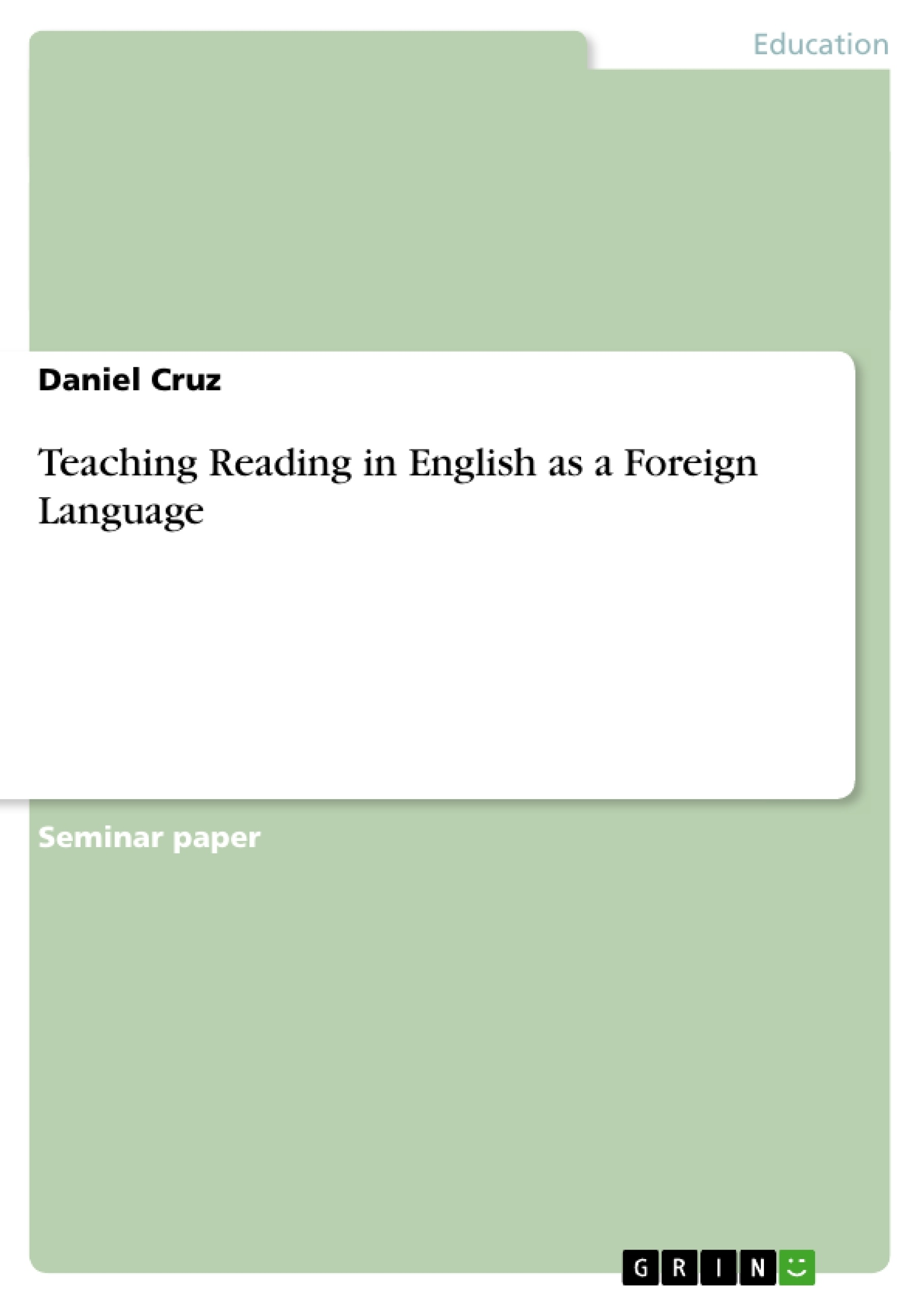 thesis teaching english as a foreign language This thesis is approved for recommendation to the graduate council  the  teaching of english as a foreign language has a promising outlook in the nation  of.