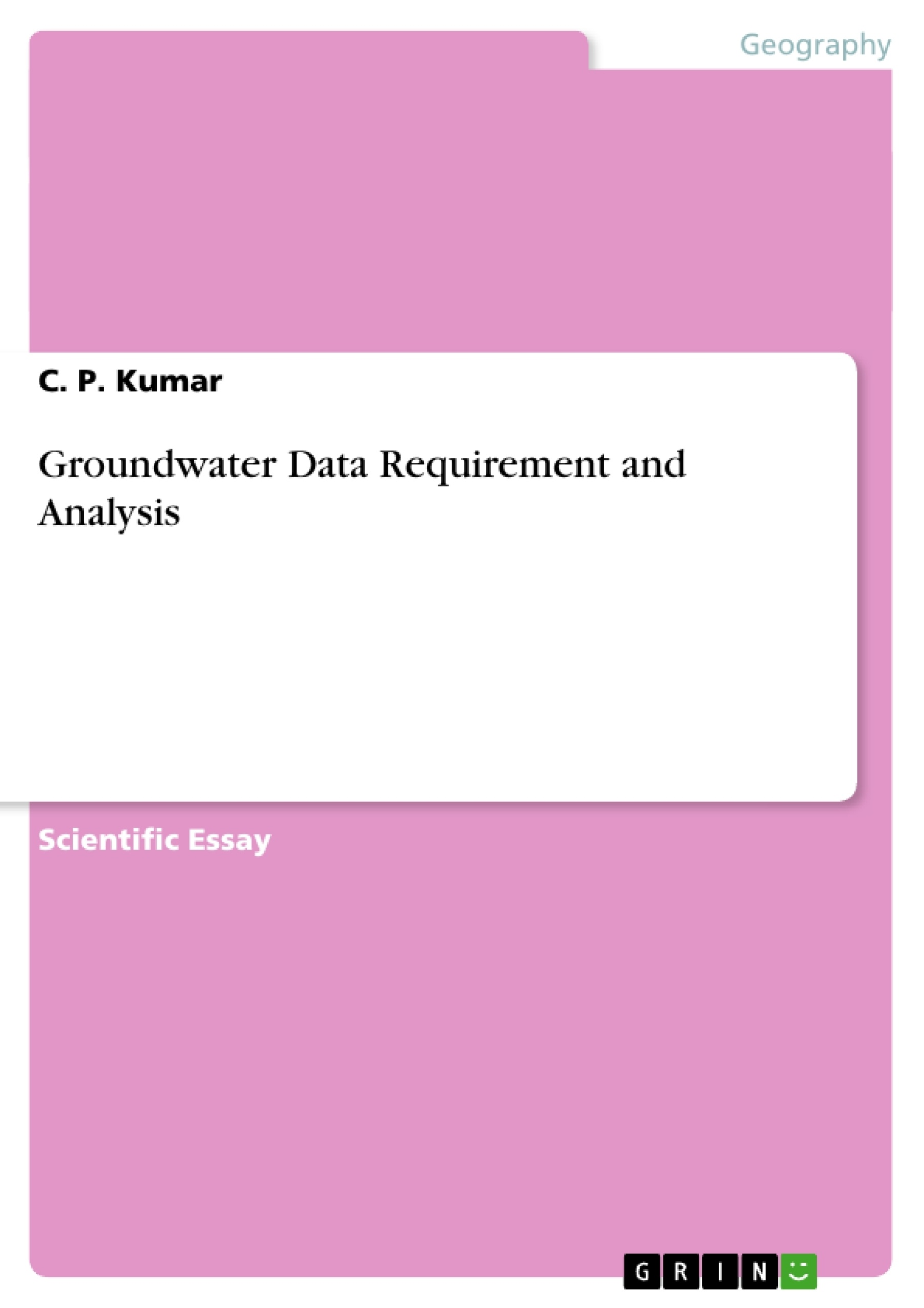 groundwater analysis thesis Groundwater data analysis mtech thesis stage i report submitted in partial  fulfillment of the requirements for the degree of master of.