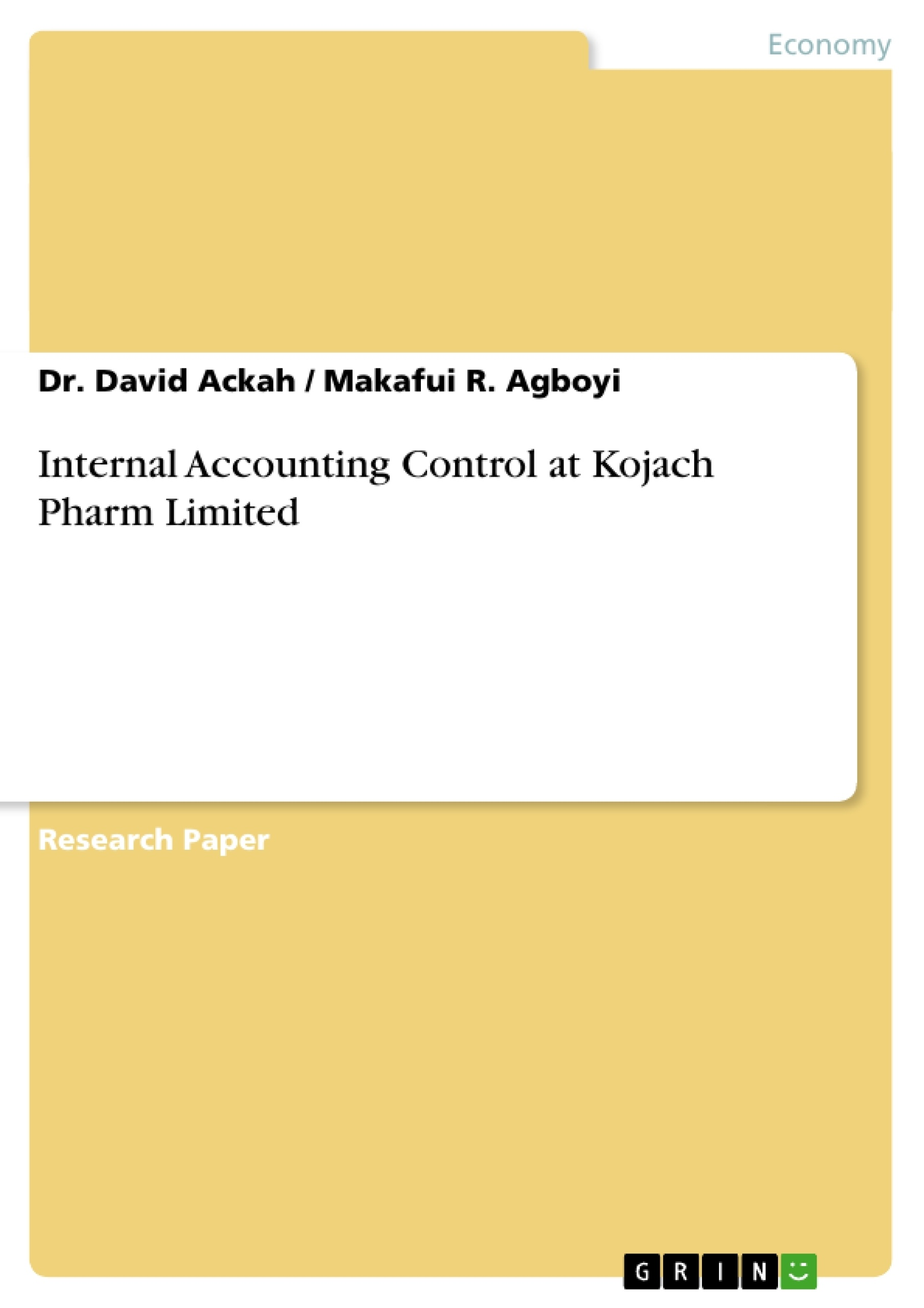 Internal control thesis